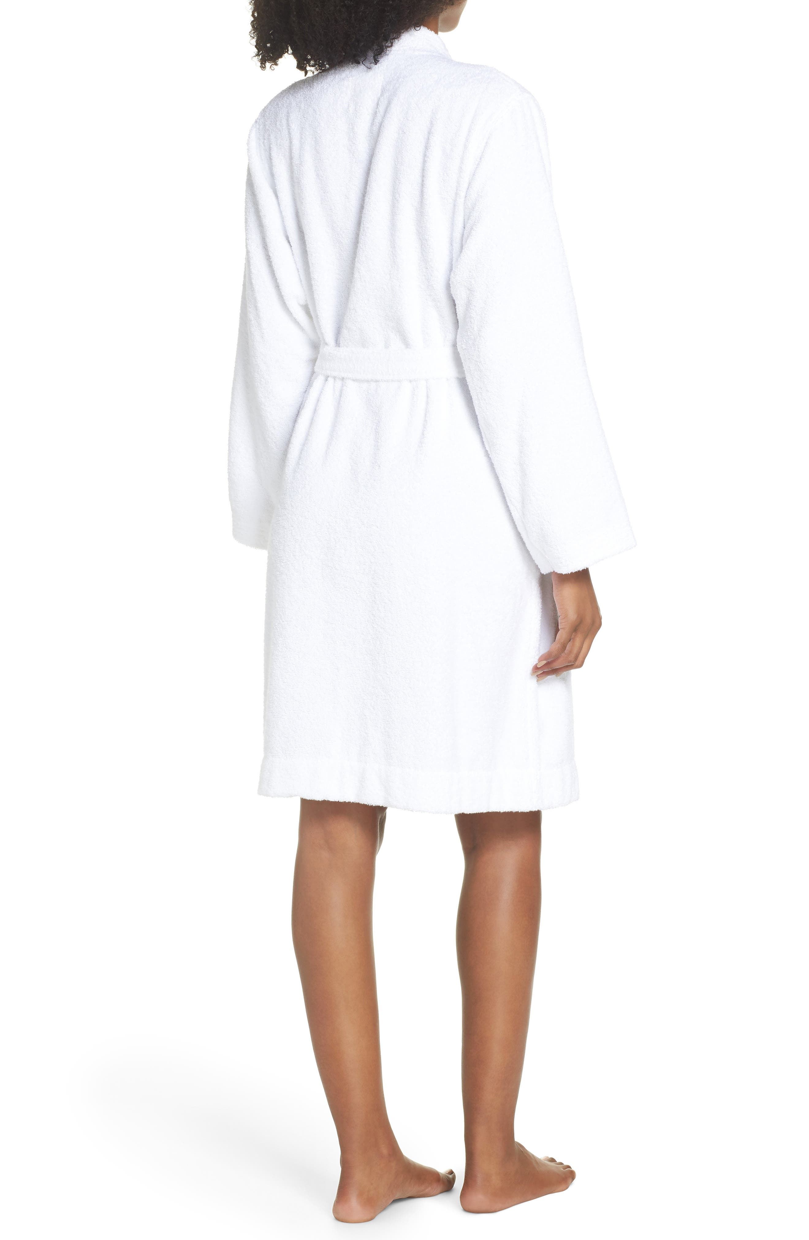 Lorie Terry Short Robe,                             Alternate thumbnail 2, color,                             WHITE