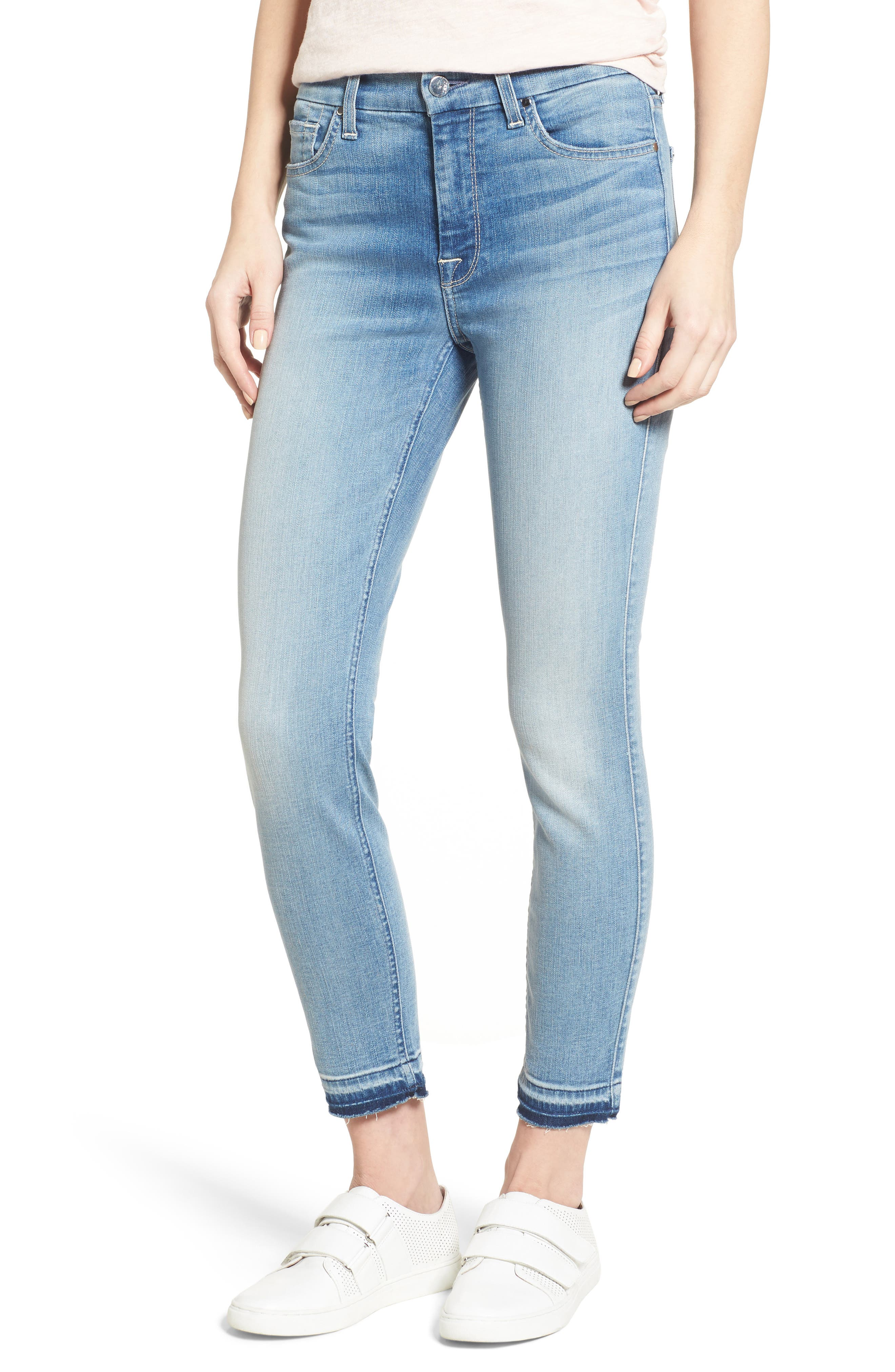 Release Hem Stretch Ankle Skinny Jeans,                             Main thumbnail 2, color,