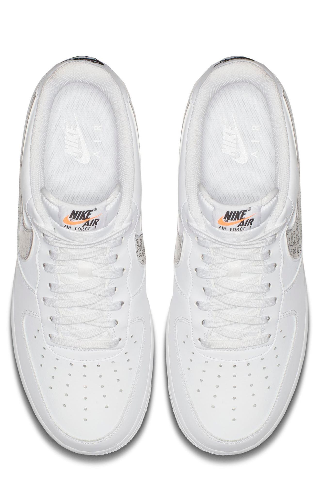 Air Force 1 '07 LV8 Just Do It Sneaker,                             Alternate thumbnail 3, color,                             100