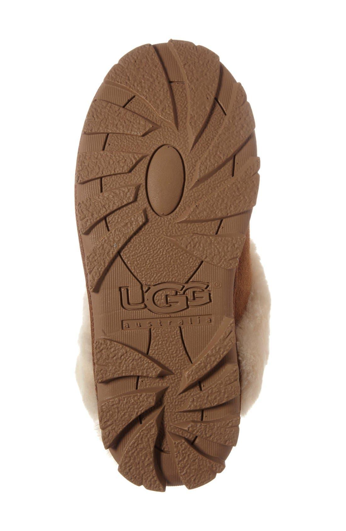 UGG<SUP>®</SUP>,                             Genuine Shearling Slipper,                             Alternate thumbnail 10, color,                             CHESTNUT