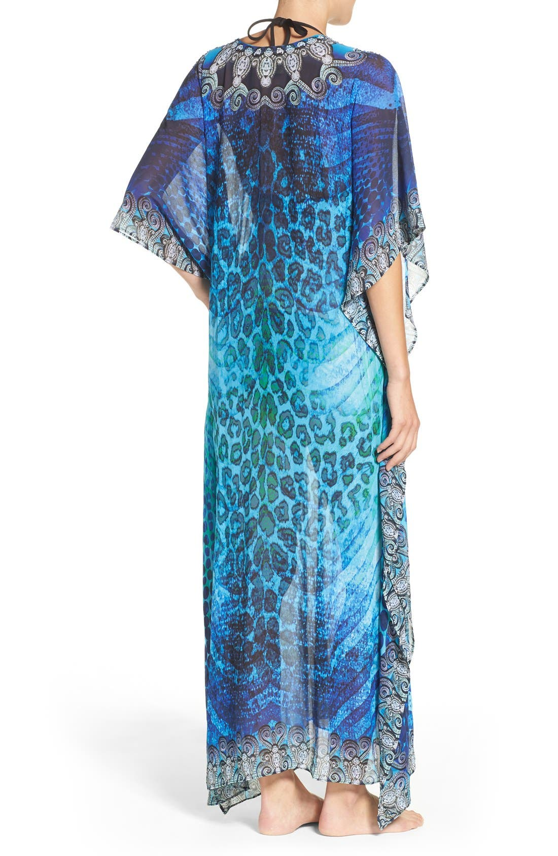 'Santorini' Long Kaftan,                             Alternate thumbnail 3, color,                             400