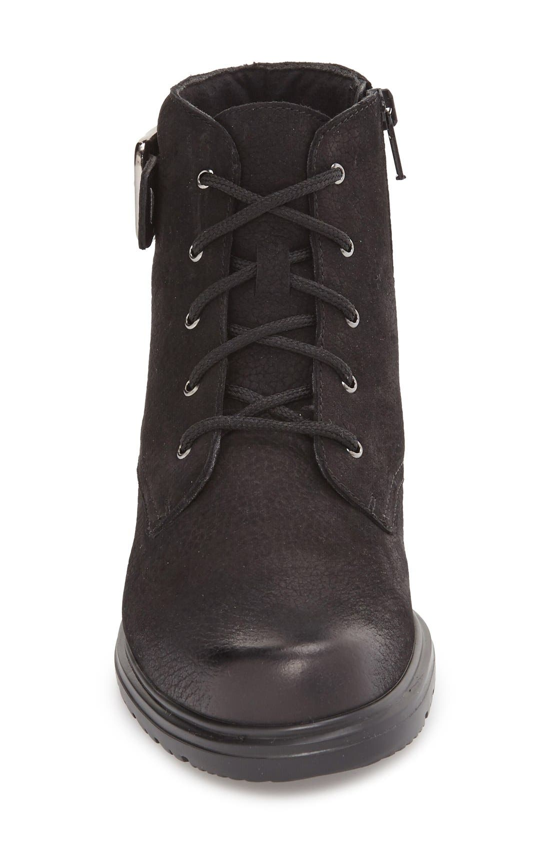 Bradley Water Resistant Boot,                             Alternate thumbnail 3, color,                             BLACK TUMBLED NUBUCK LEATHER