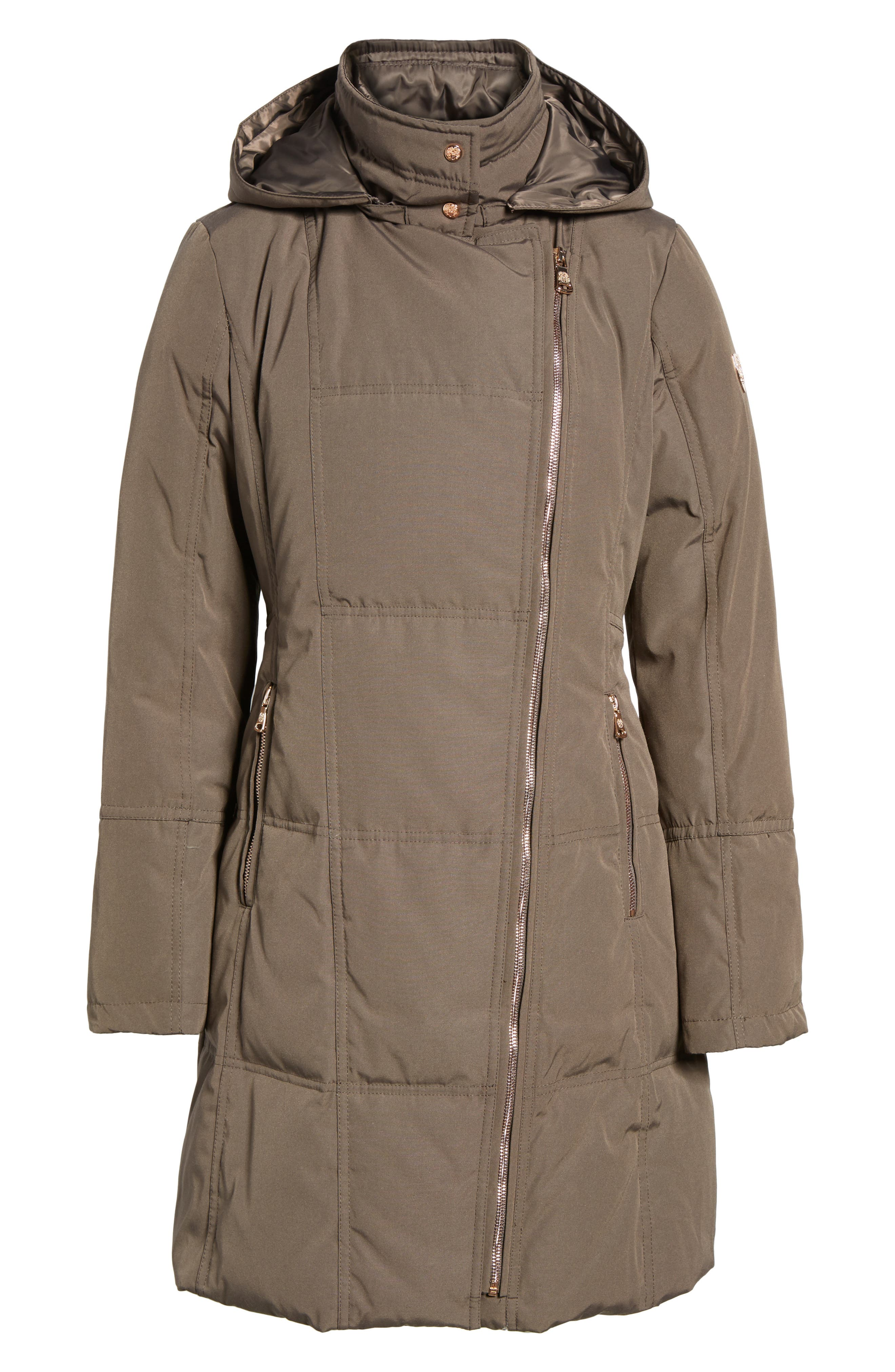 Down & Feather Fill Coat,                             Alternate thumbnail 14, color,