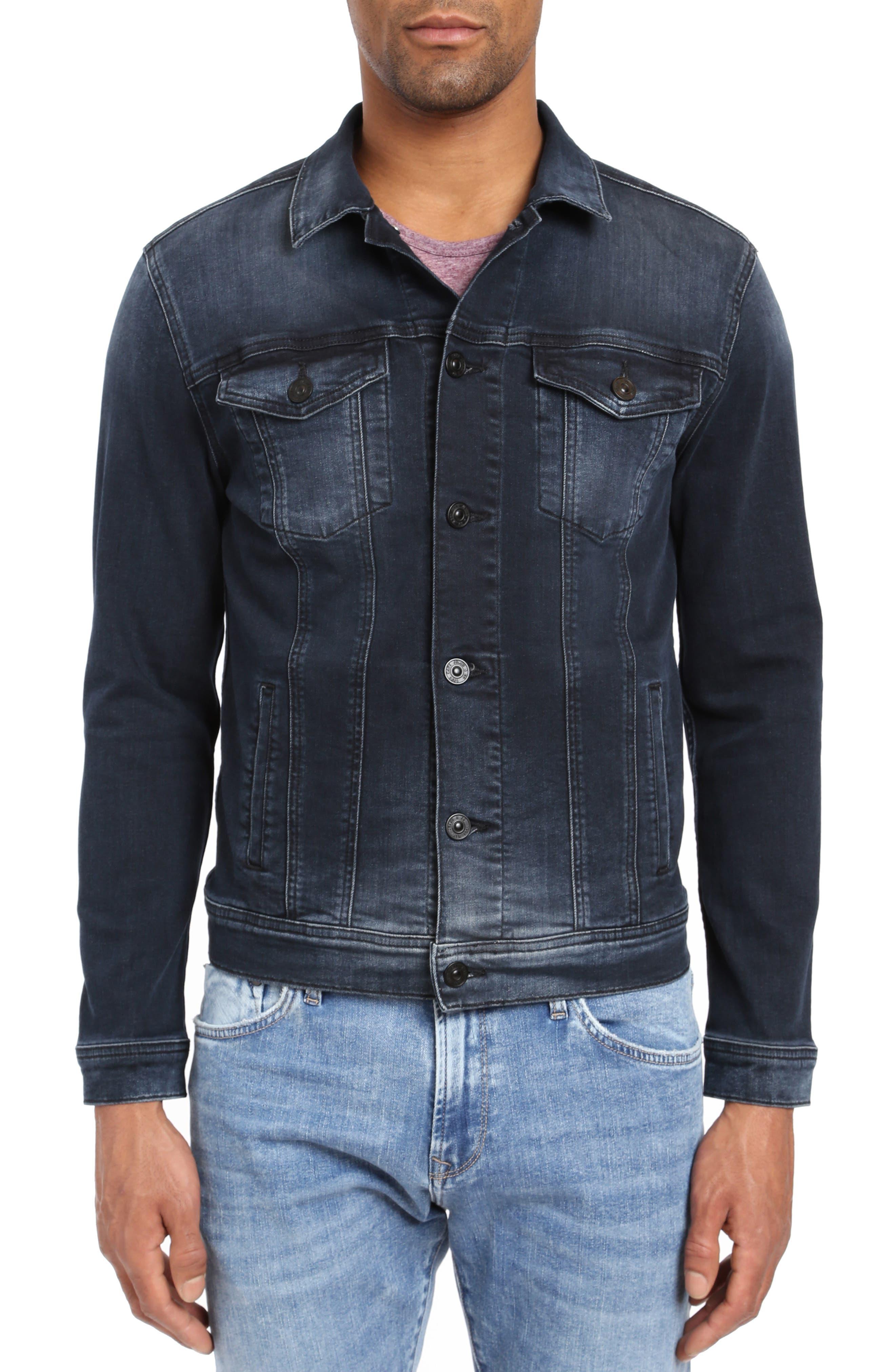 Frank Denim Jacket, Main, color, INK BRUSHED AUTHENTIC VINTAGE