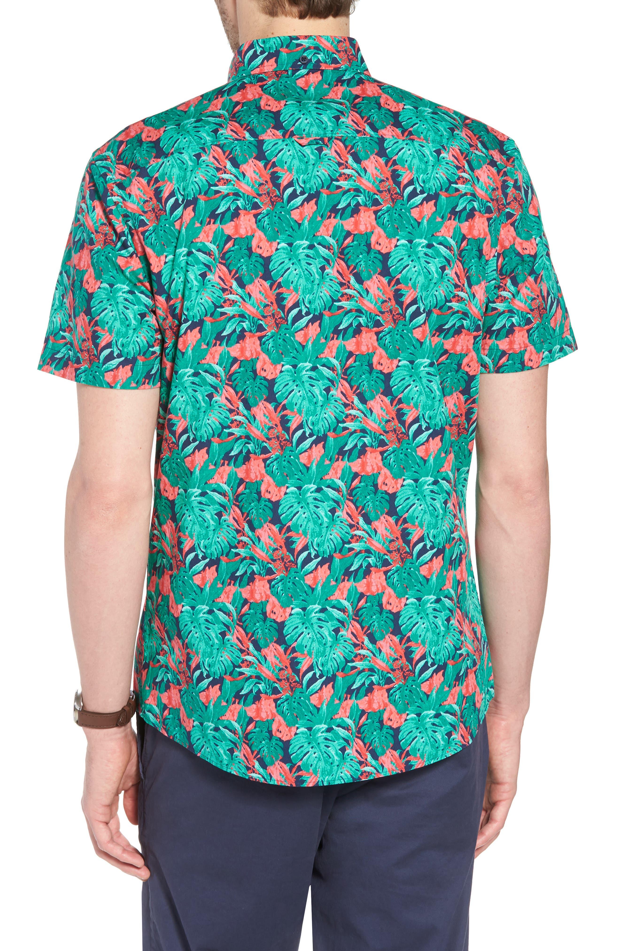 Trim Fit Print Short Sleeve Sport Shirt,                             Alternate thumbnail 2, color,                             310