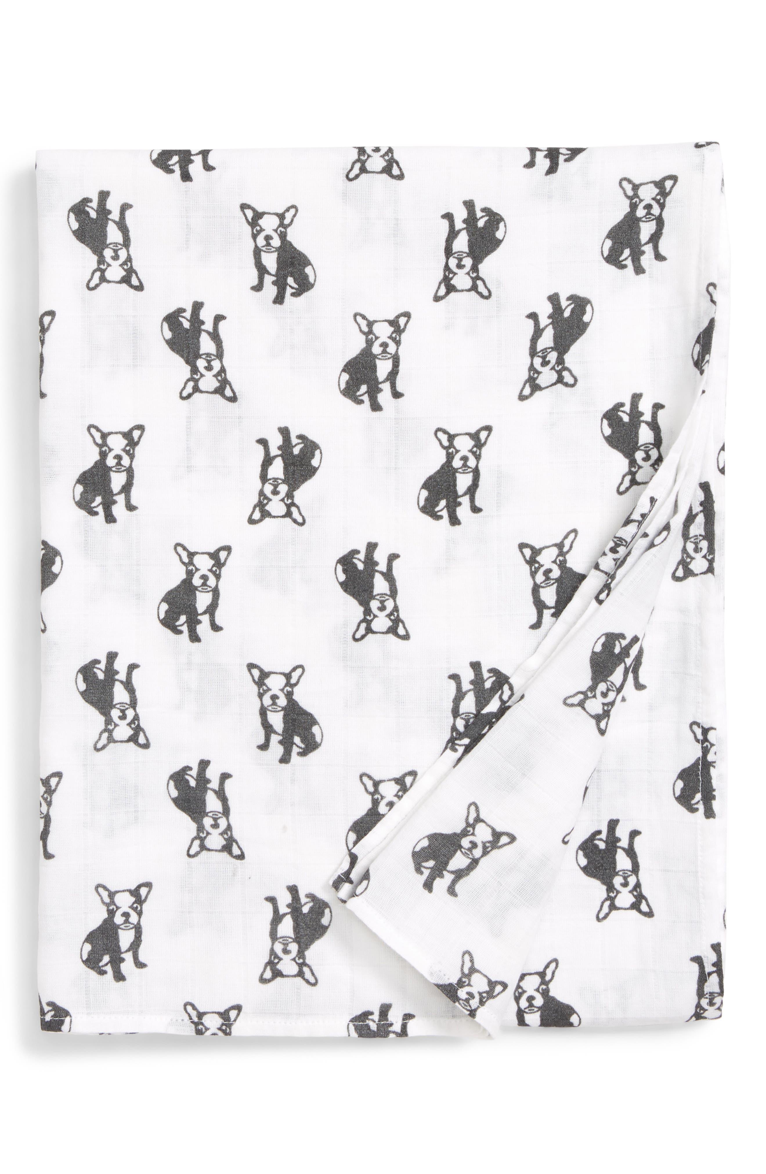 Cotton Swaddle Blanket,                             Main thumbnail 6, color,