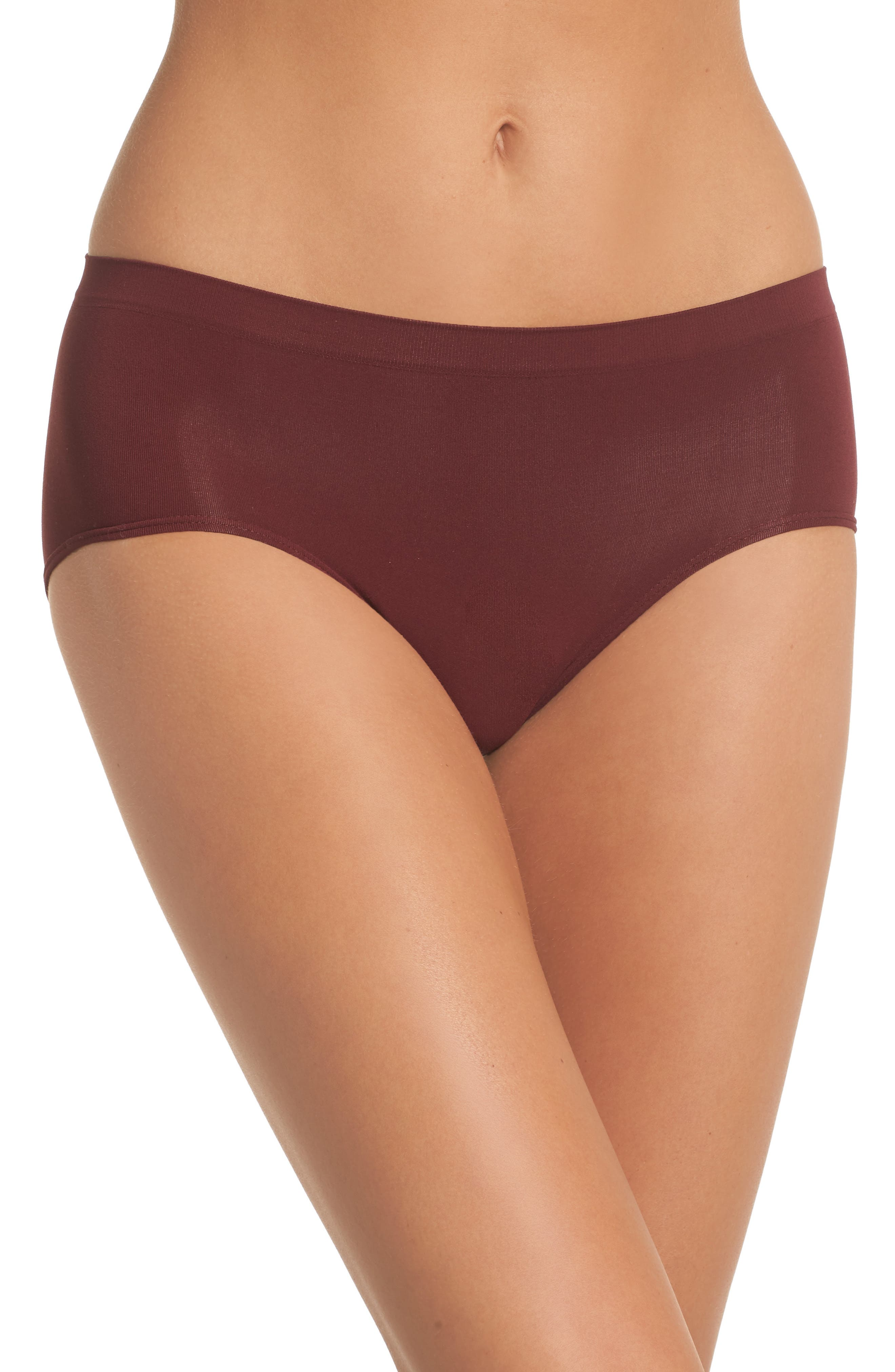 Seamless Hipster Briefs,                         Main,                         color, RED TANNIN