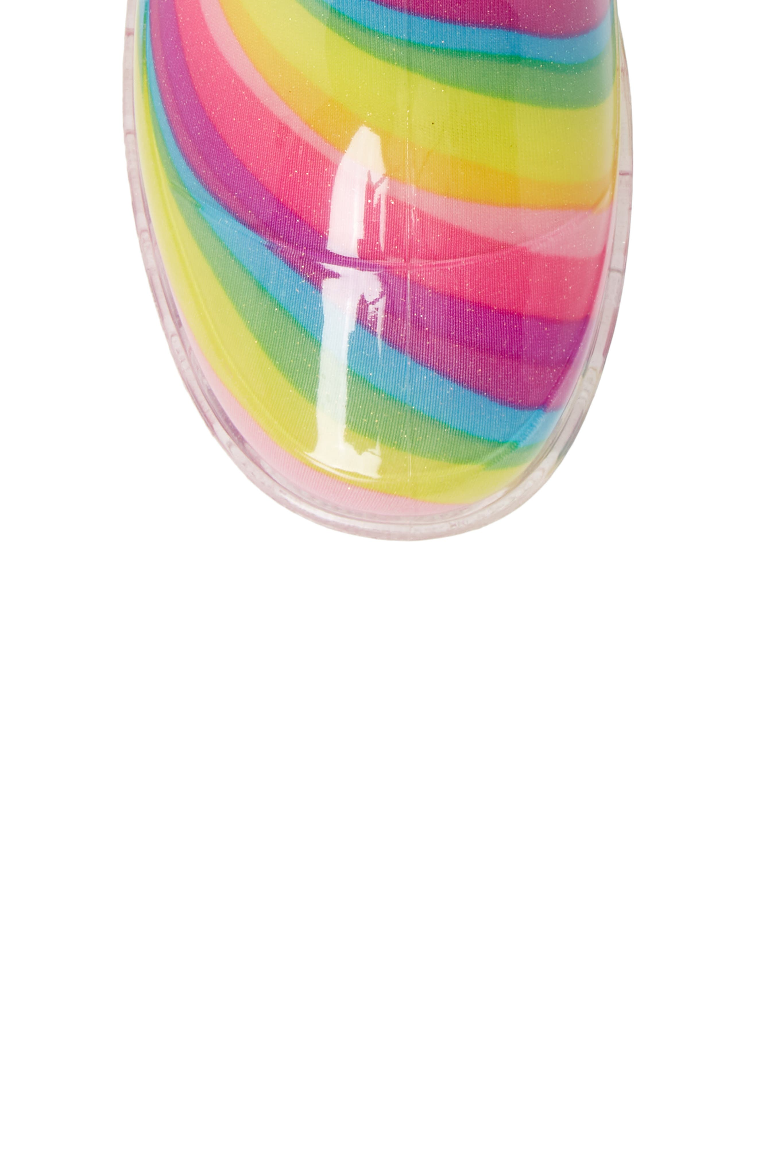 Rainbow Light-Up Waterproof Rain Boot,                             Alternate thumbnail 5, color,                             MULTI