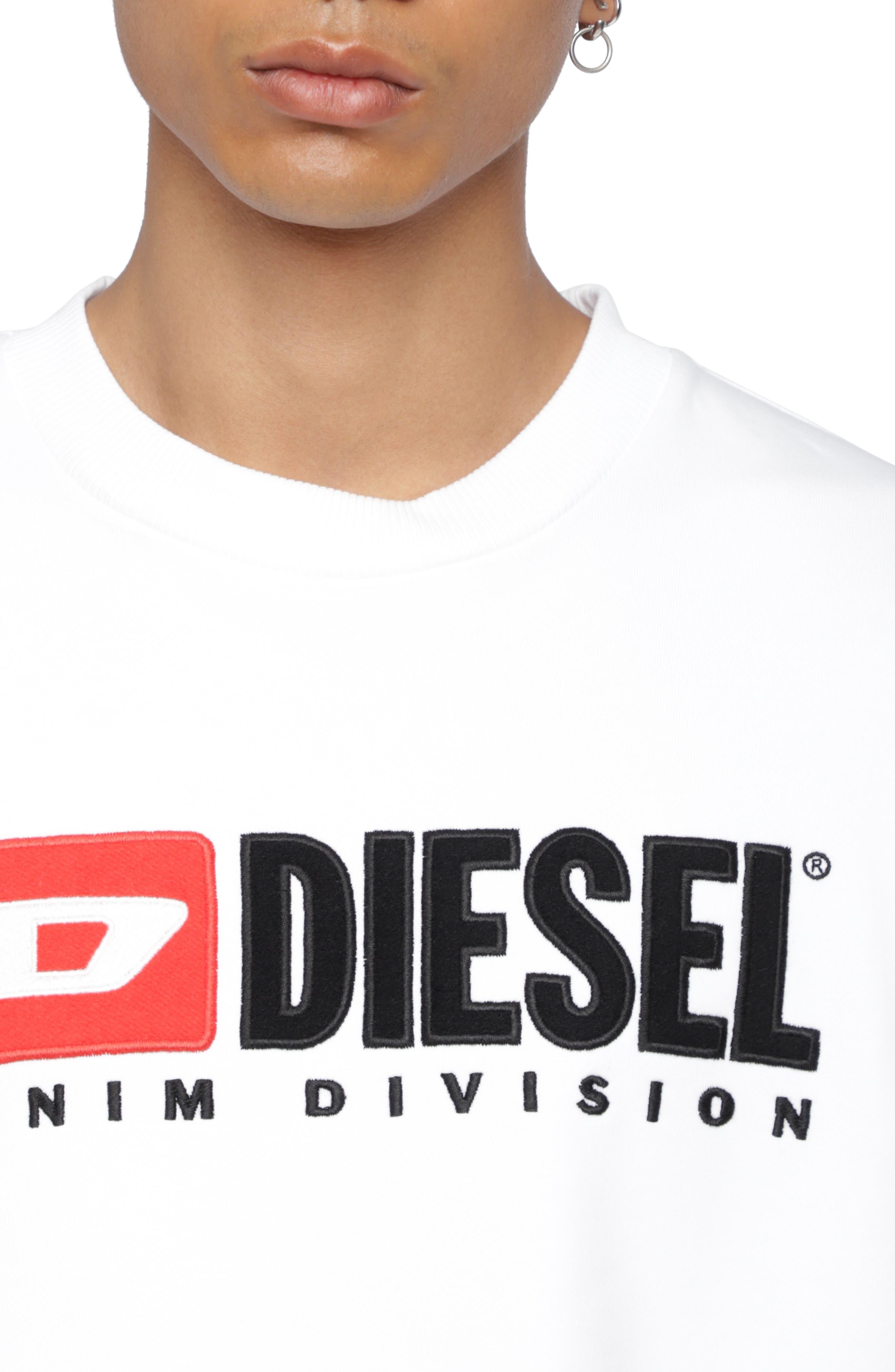 S-CREW-DIVISION Sweatshirt,                             Alternate thumbnail 3, color,                             WHITE
