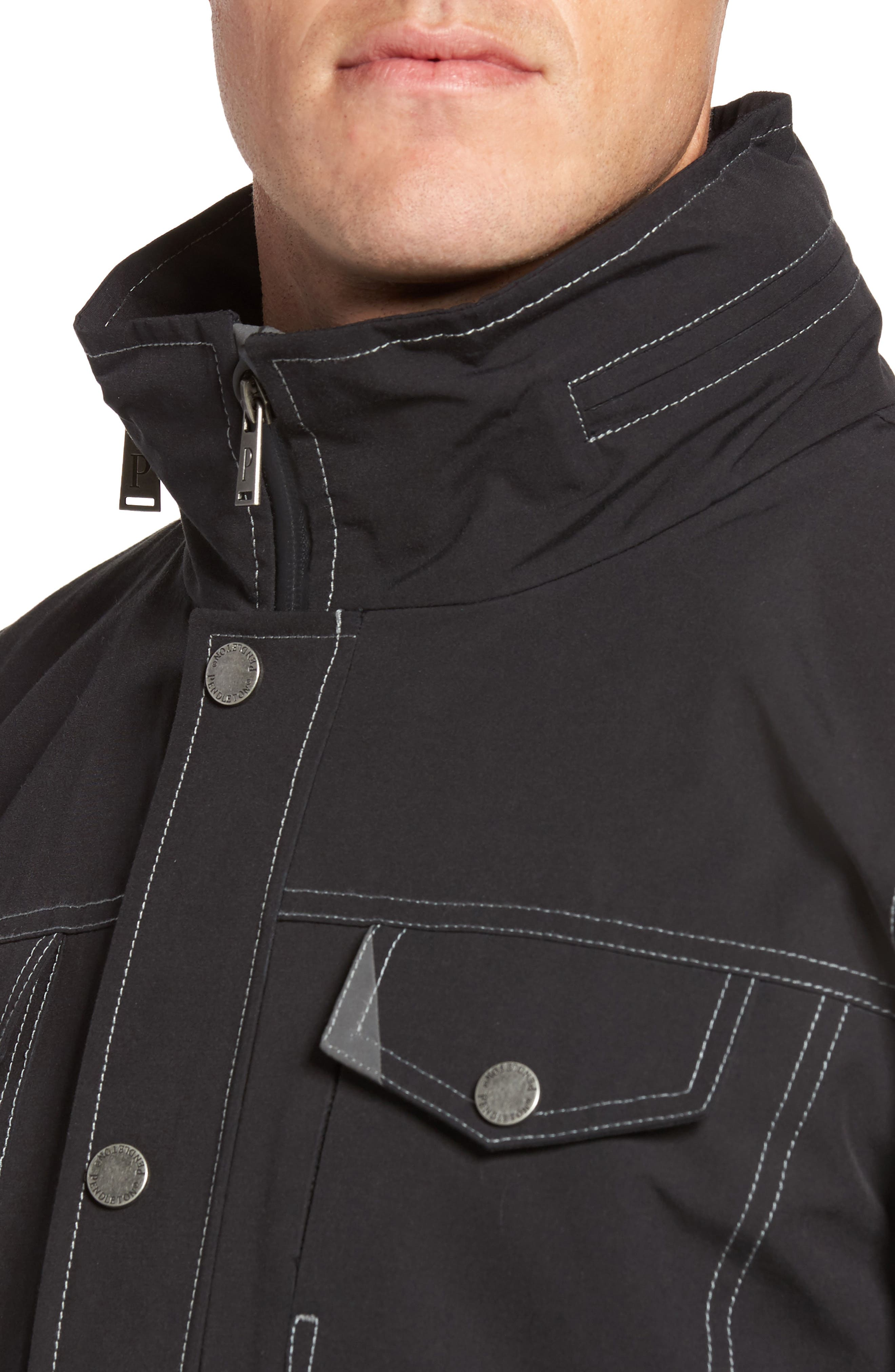 Forks Waterproof Jacket,                             Alternate thumbnail 4, color,                             001
