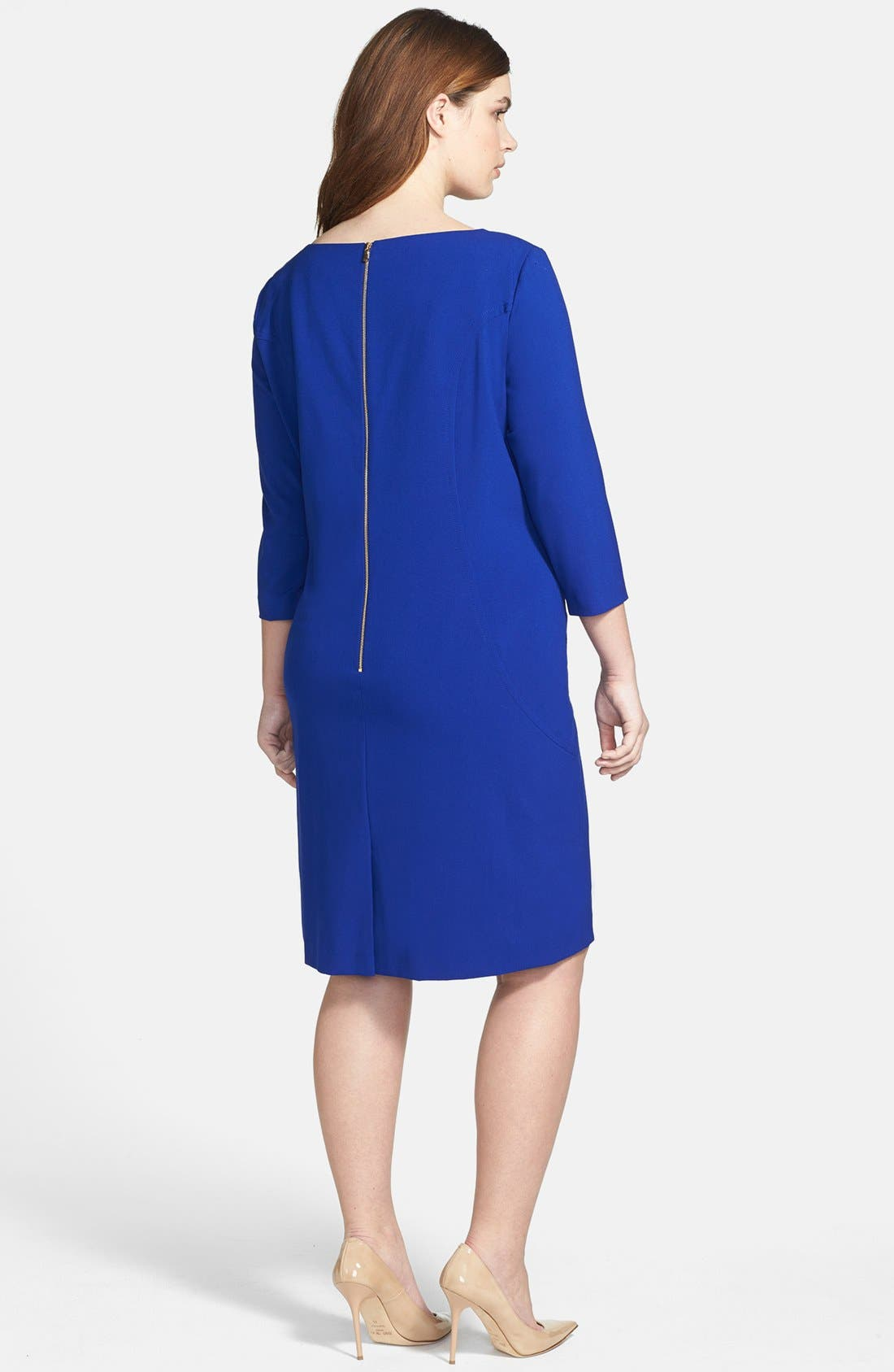 by Arthur S. Levine Seamed A-Line Dress,                             Alternate thumbnail 3, color,                             450