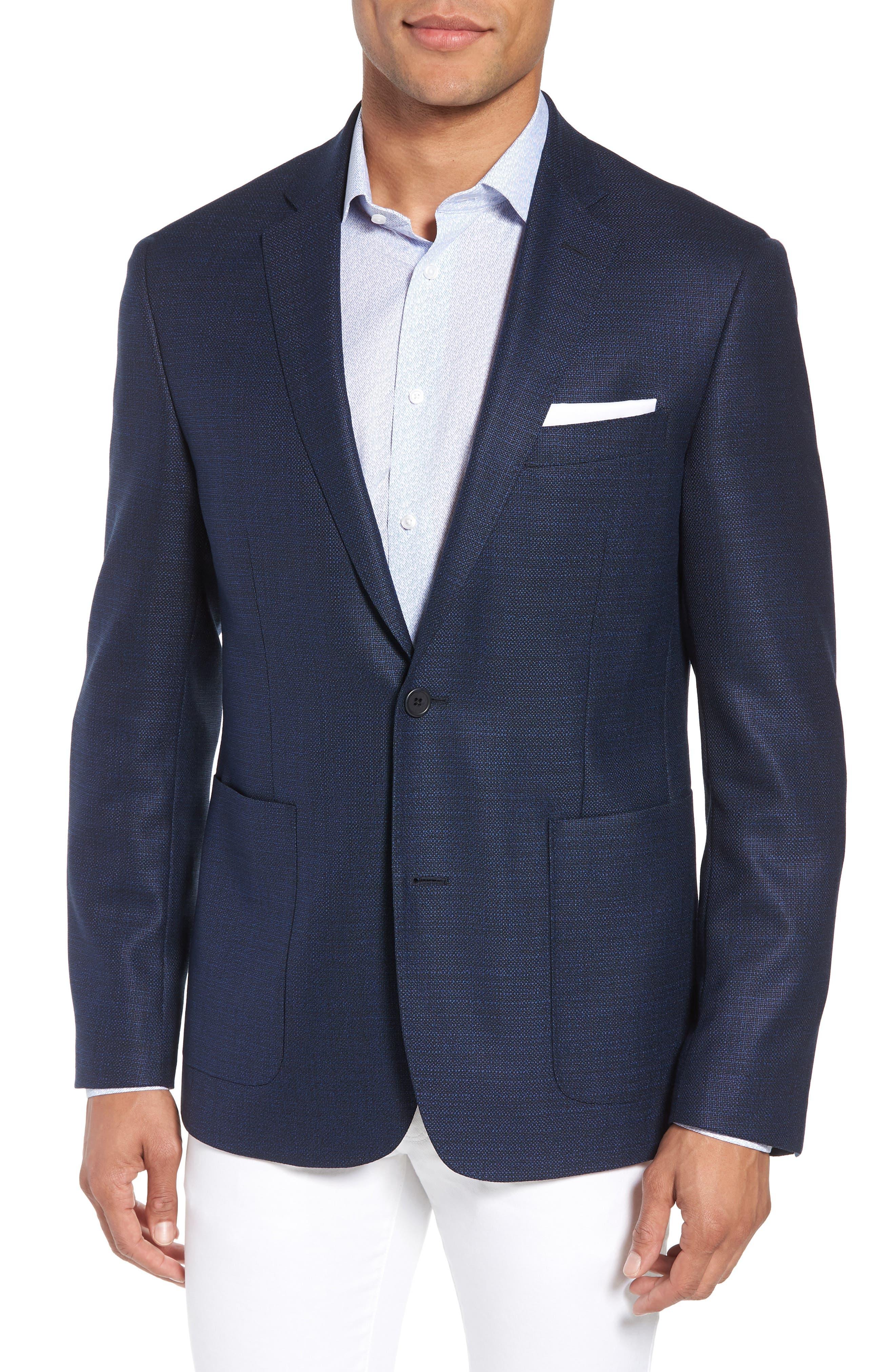 Trim Fit Wool Blazer,                         Main,                         color, 410