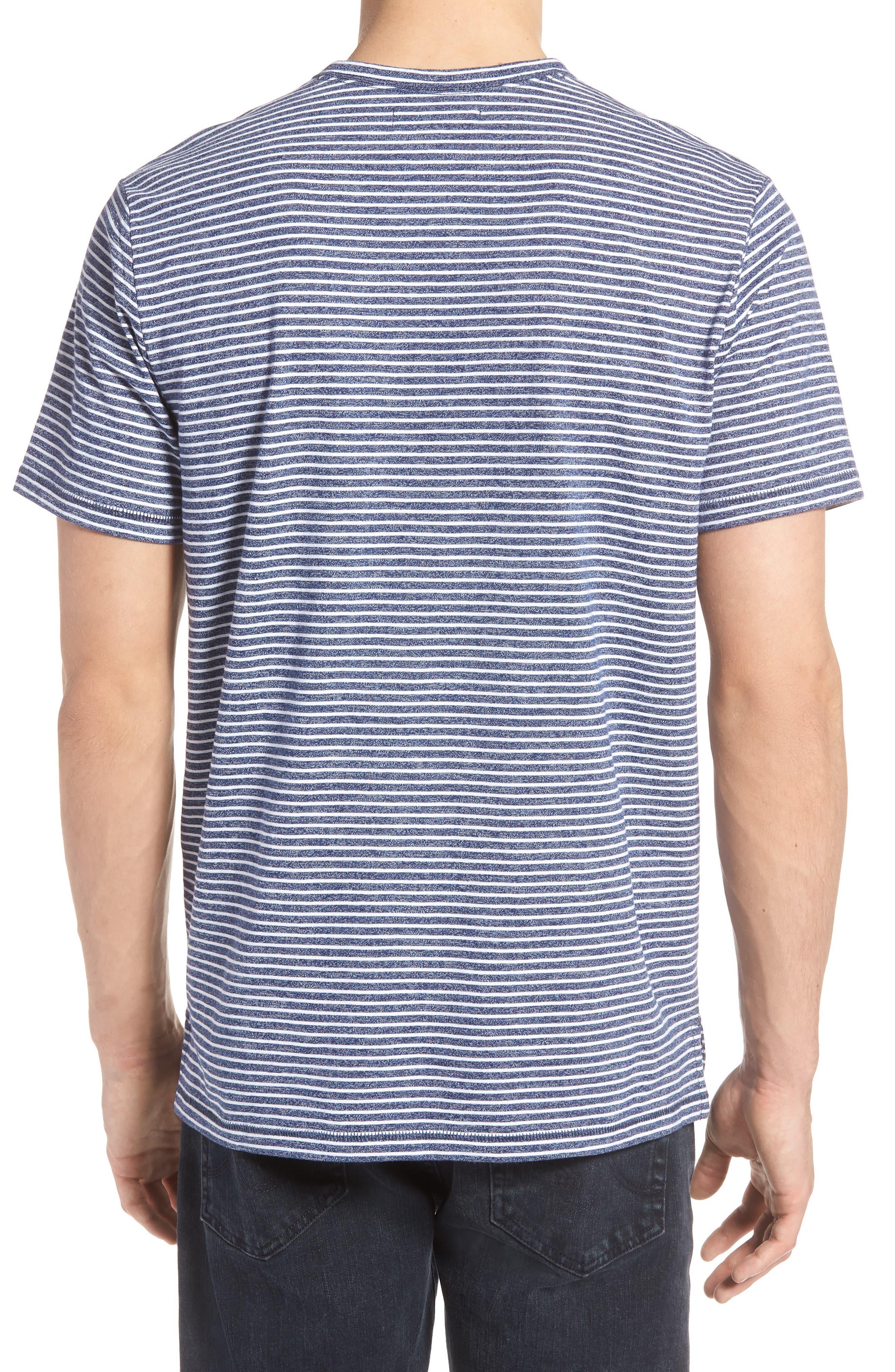 Yarn Dyed Stripe T-Shirt,                             Alternate thumbnail 2, color,                             NAVY IRIS STRIPE