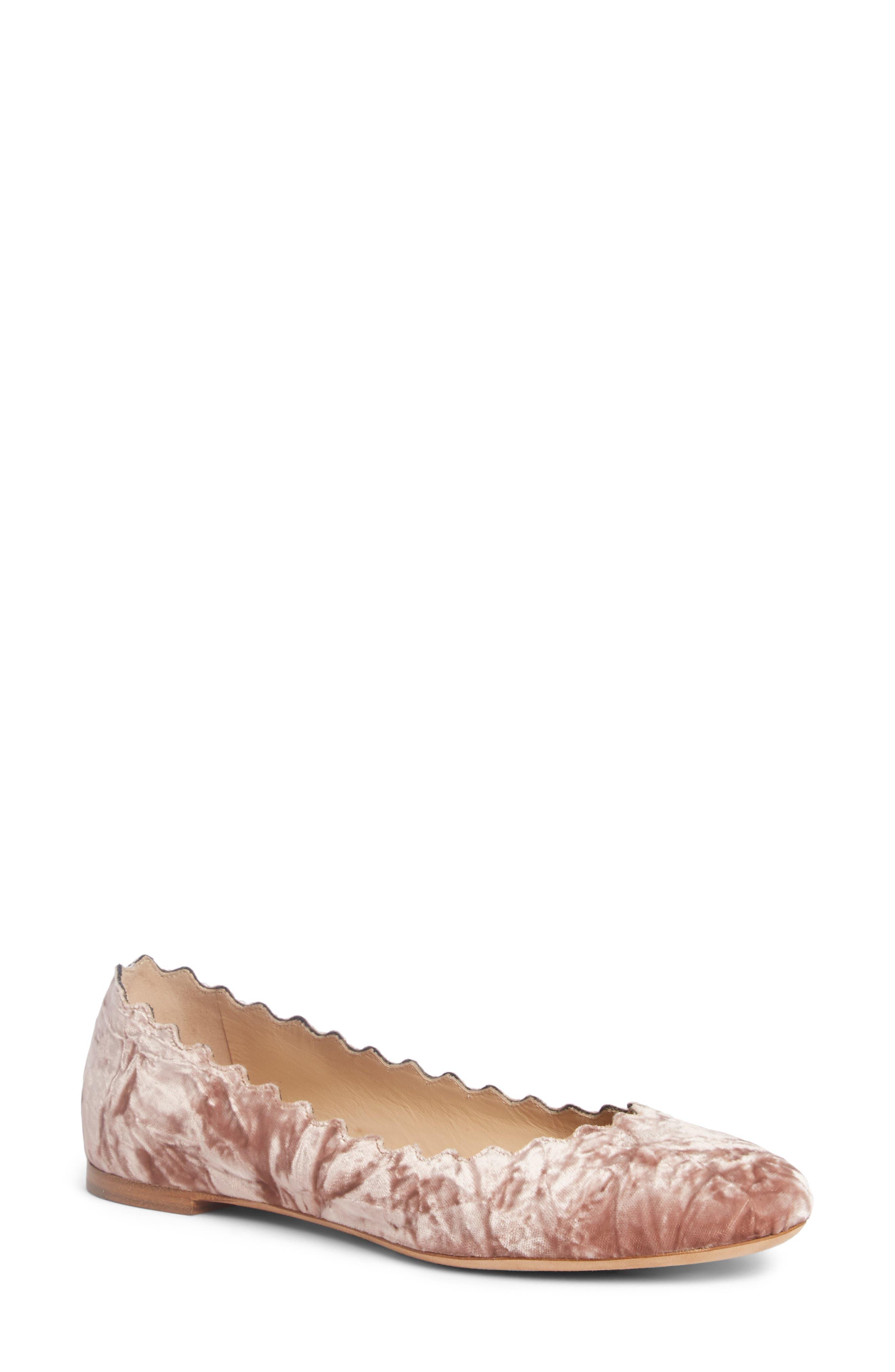 Lauren Scalloped Ballet Flat,                         Main,                         color, 280