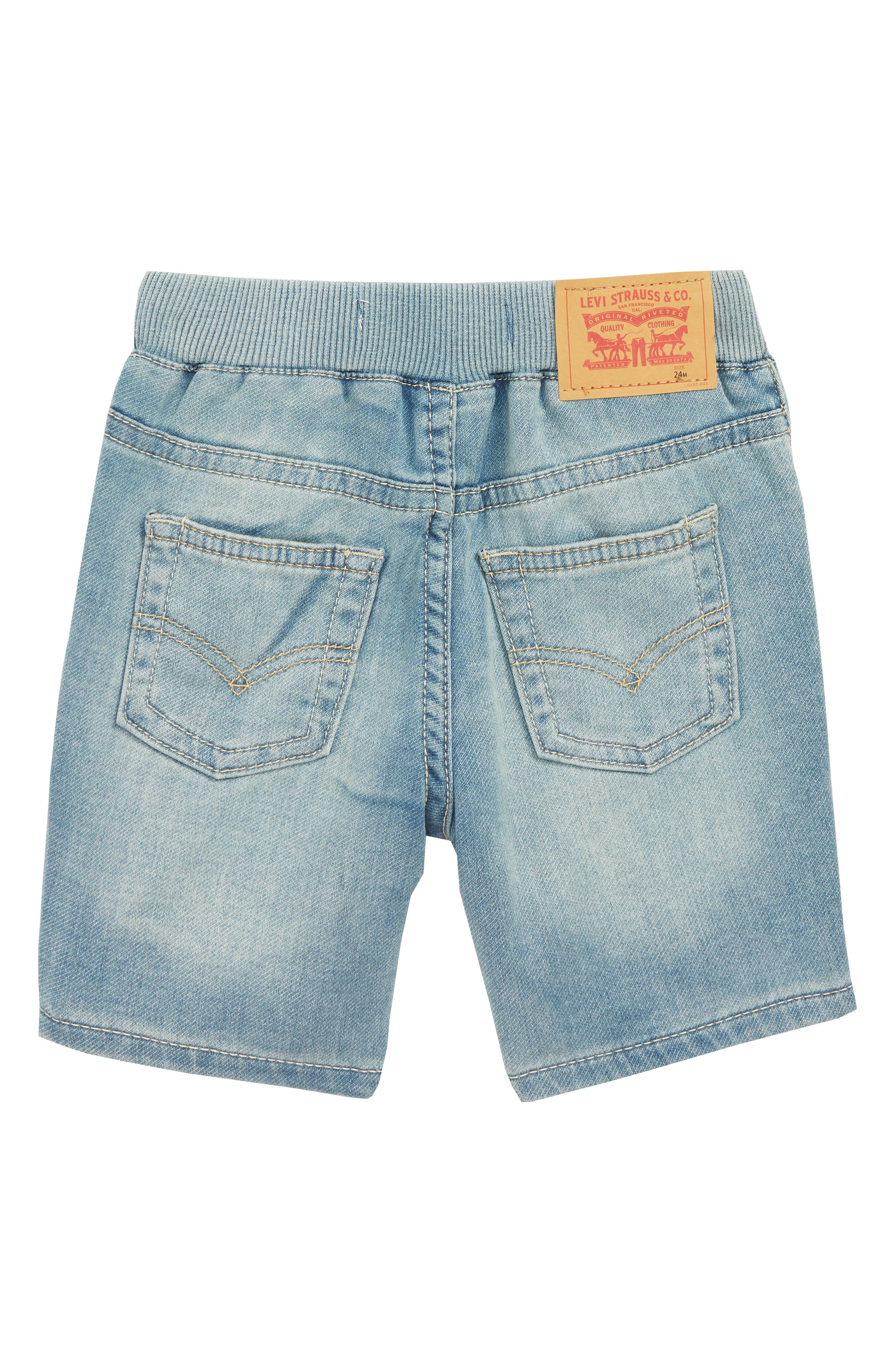 Knit Denim Shorts,                             Alternate thumbnail 2, color,                             424