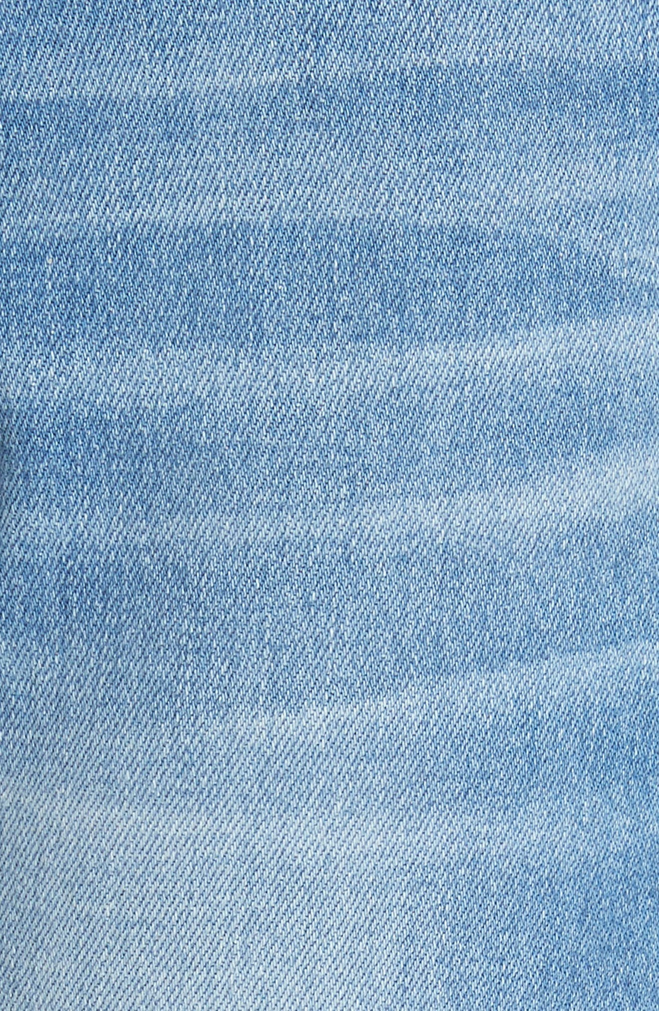 Le Boy Released Cut Hem Straight Leg Jeans,                             Alternate thumbnail 5, color,                             WHITFIELD