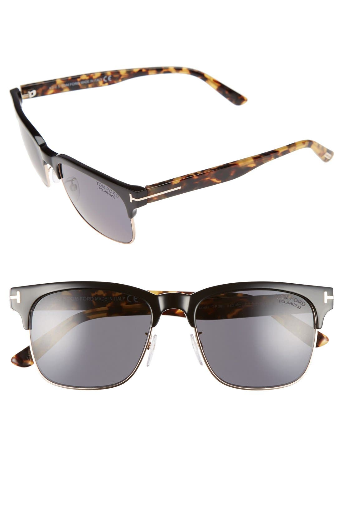 'Louis' 55mm Polarized Sunglasses,                             Main thumbnail 1, color,                             004