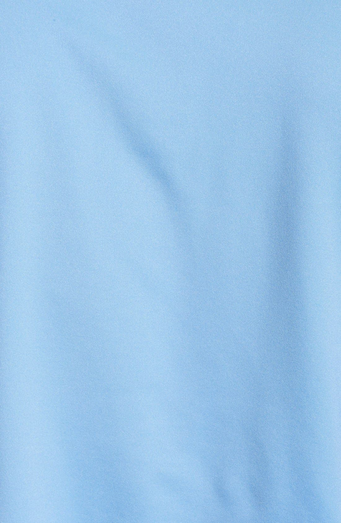 Moisture Wicking Stretch Jersey Polo,                             Alternate thumbnail 3, color,                             COTTAGE BLUE