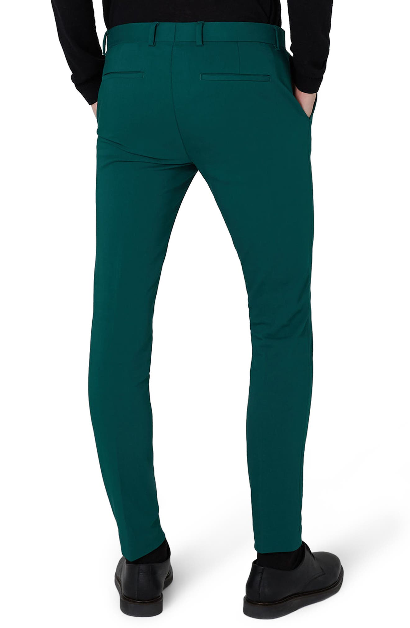 Skinny Fit Suit Trousers,                             Alternate thumbnail 2, color,