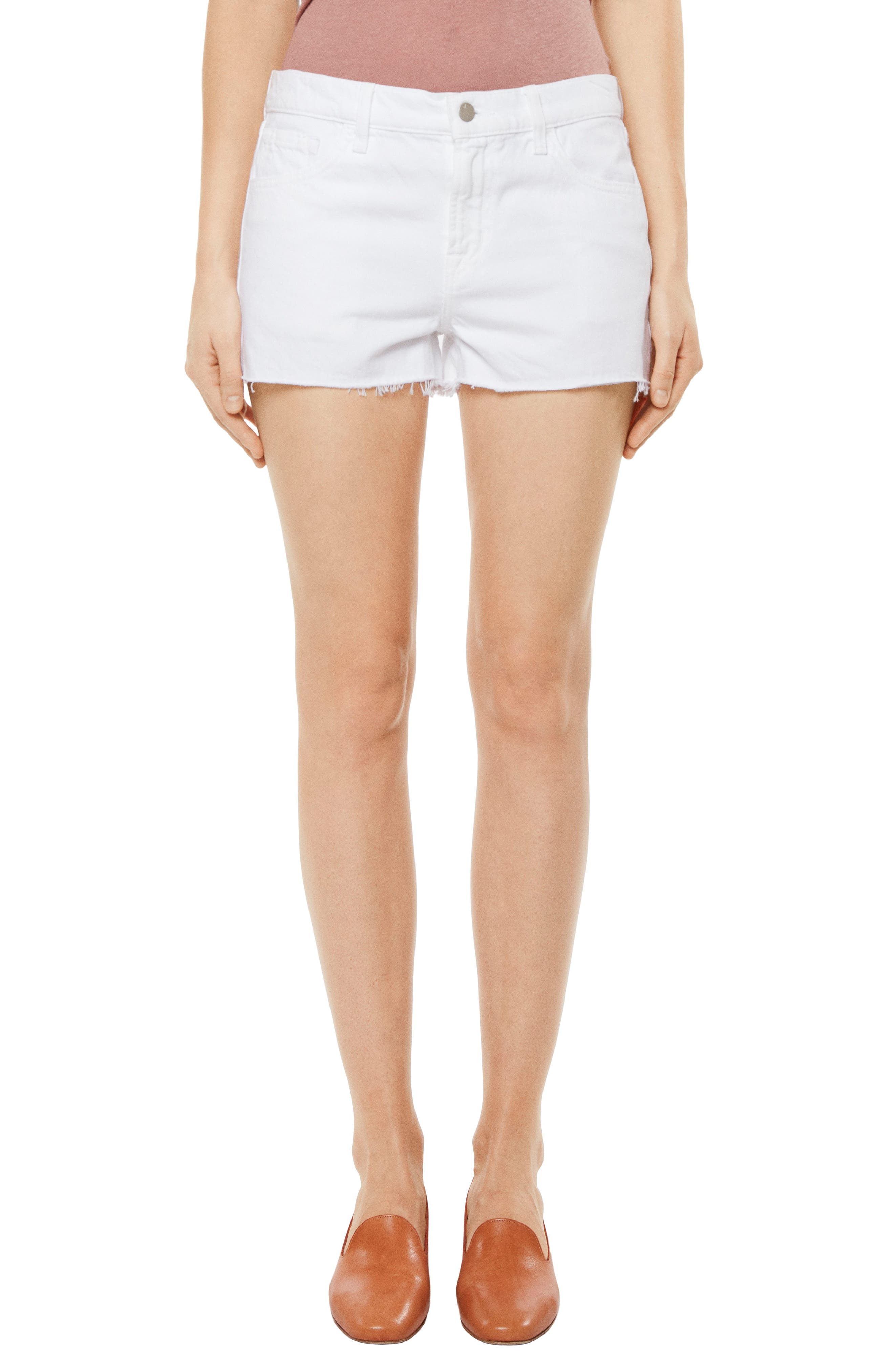 J BRAND,                             Raw Hem Denim Shorts,                             Main thumbnail 1, color,                             109