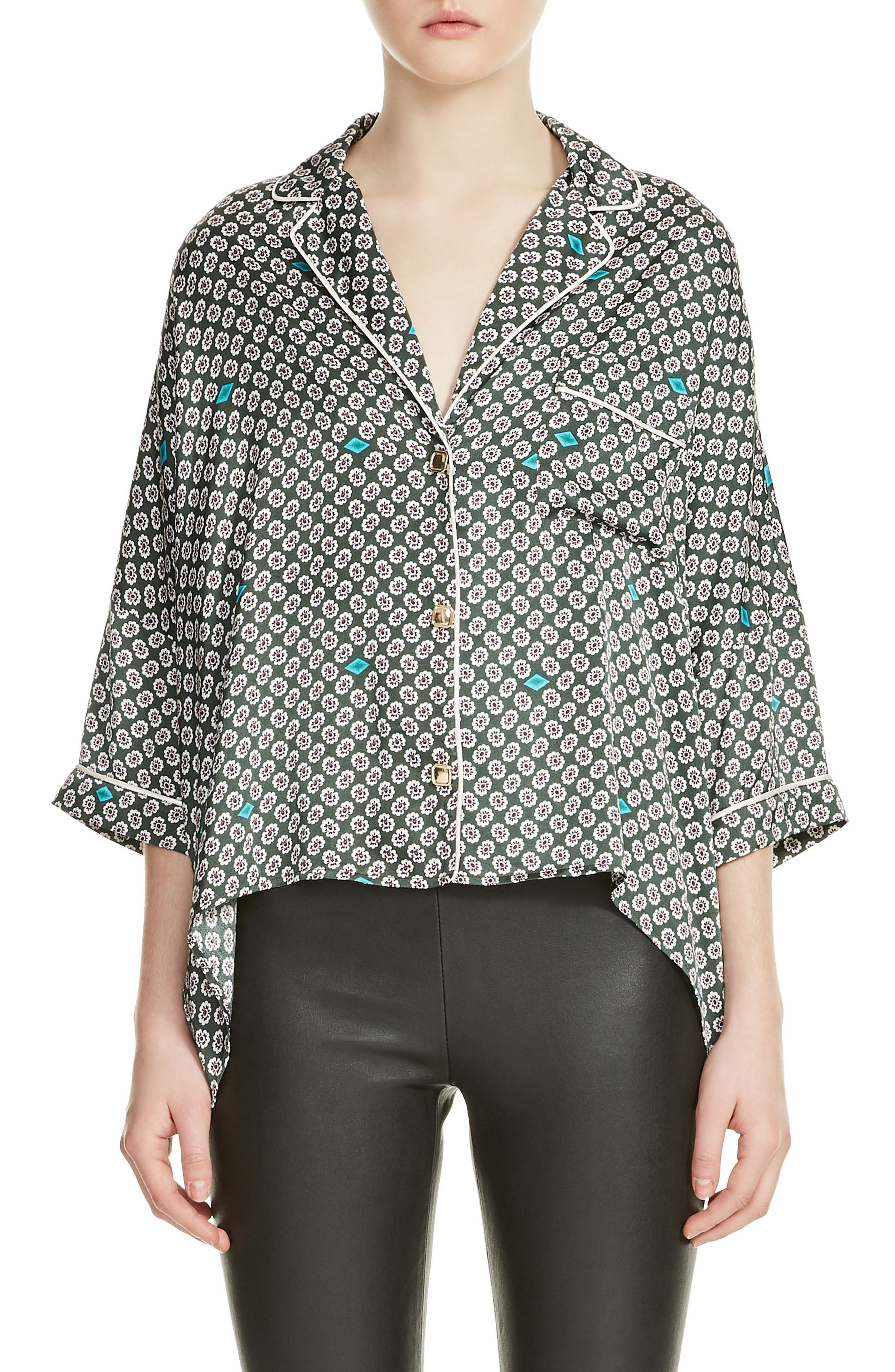 Charline Print High/Low Blouse,                             Main thumbnail 1, color,