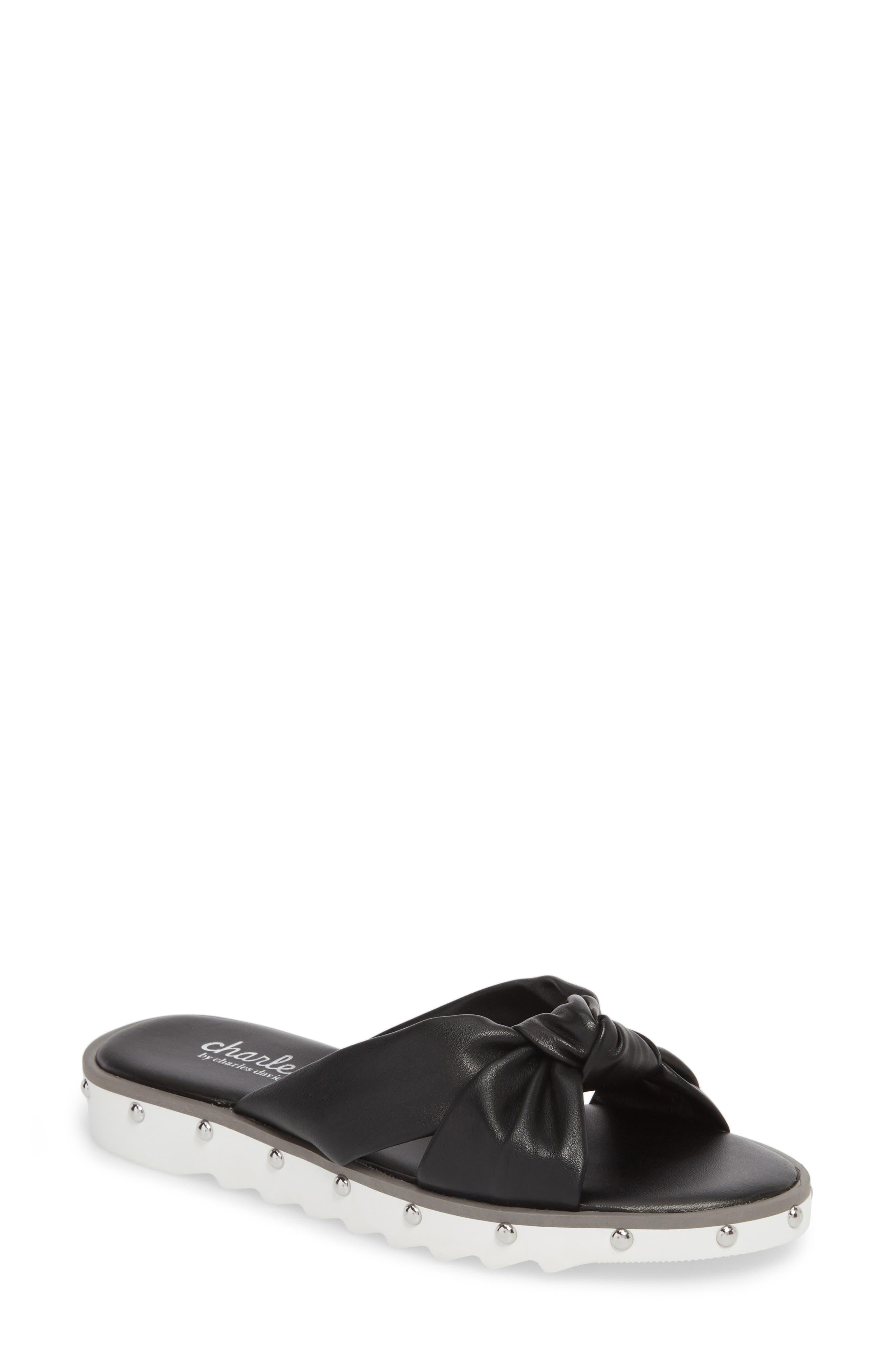 Charles By Charles David Snap Slide Sandal, Black