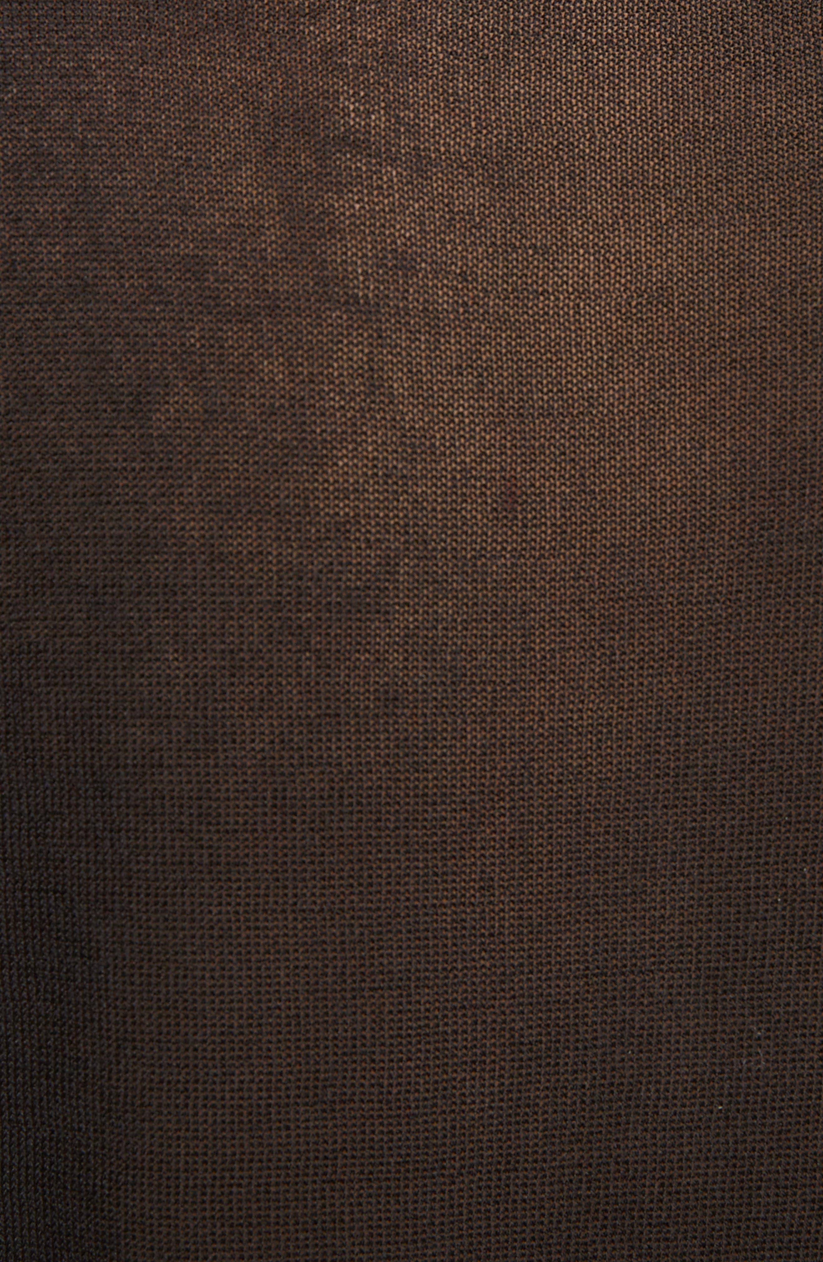 Sheer Mock Neck Sweater,                             Alternate thumbnail 5, color,                             001