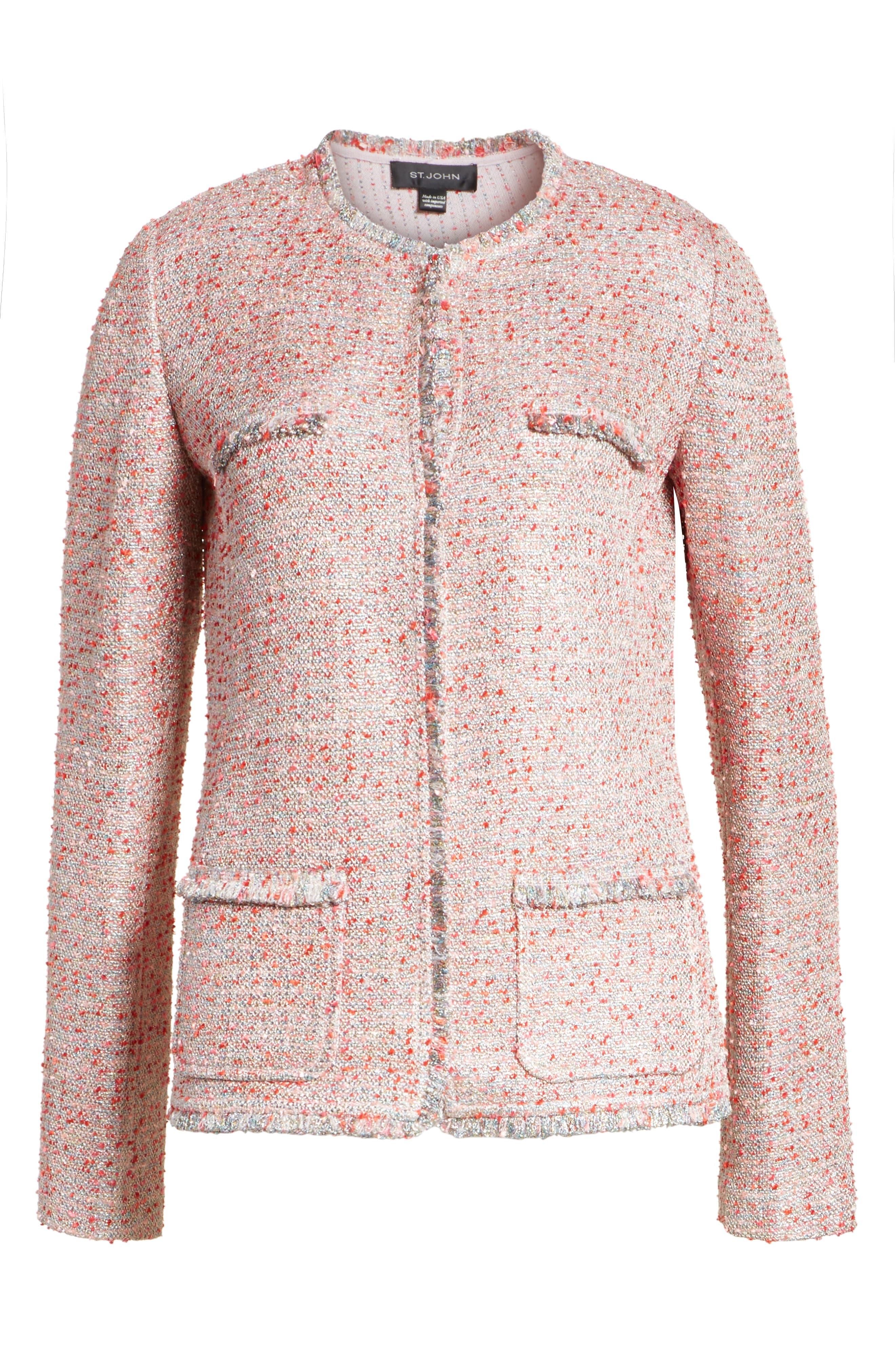 Metallic Tweed Jacket,                             Alternate thumbnail 5, color,                             660