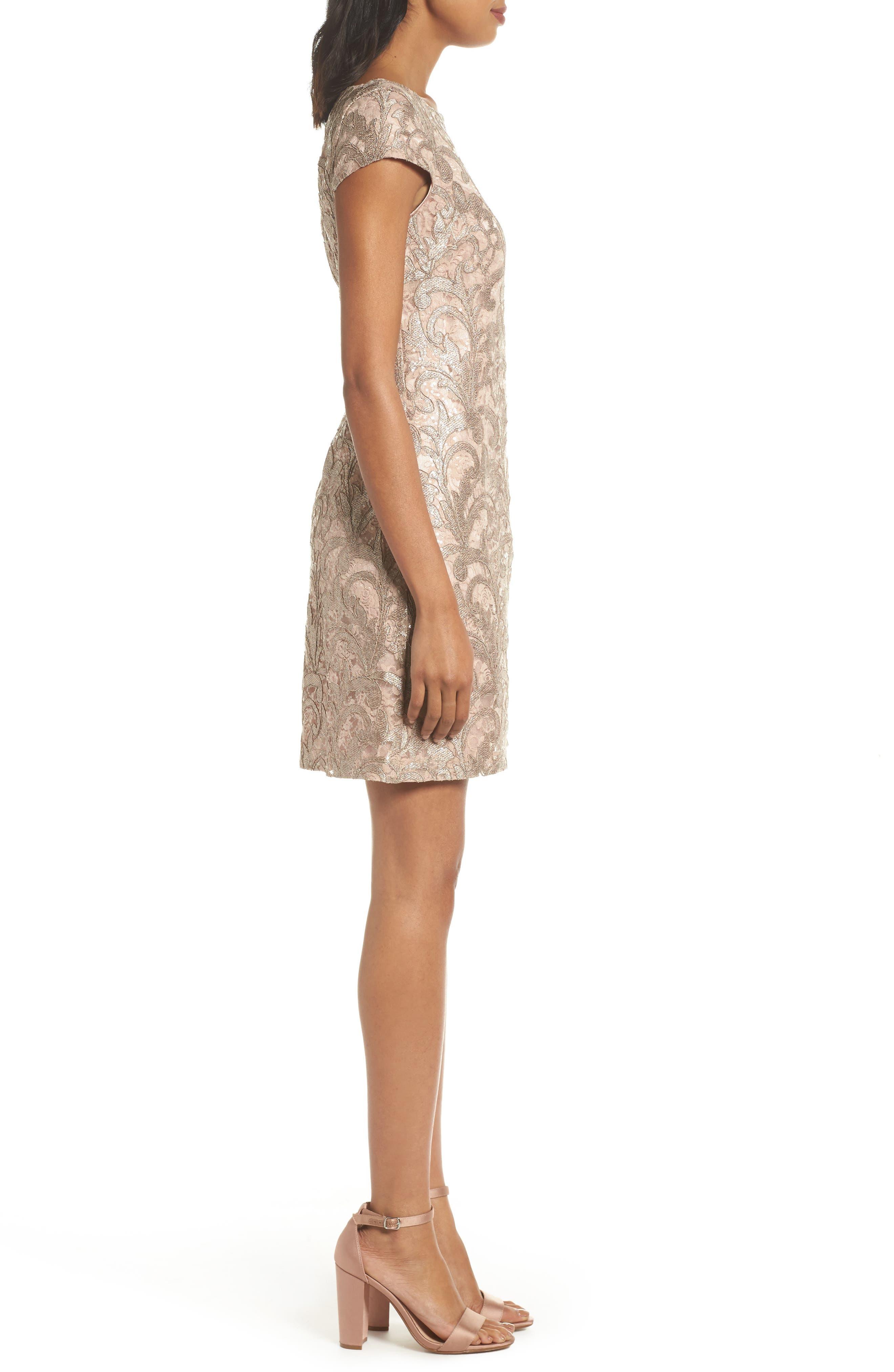 Lace Shift Dress,                             Alternate thumbnail 3, color,                             684