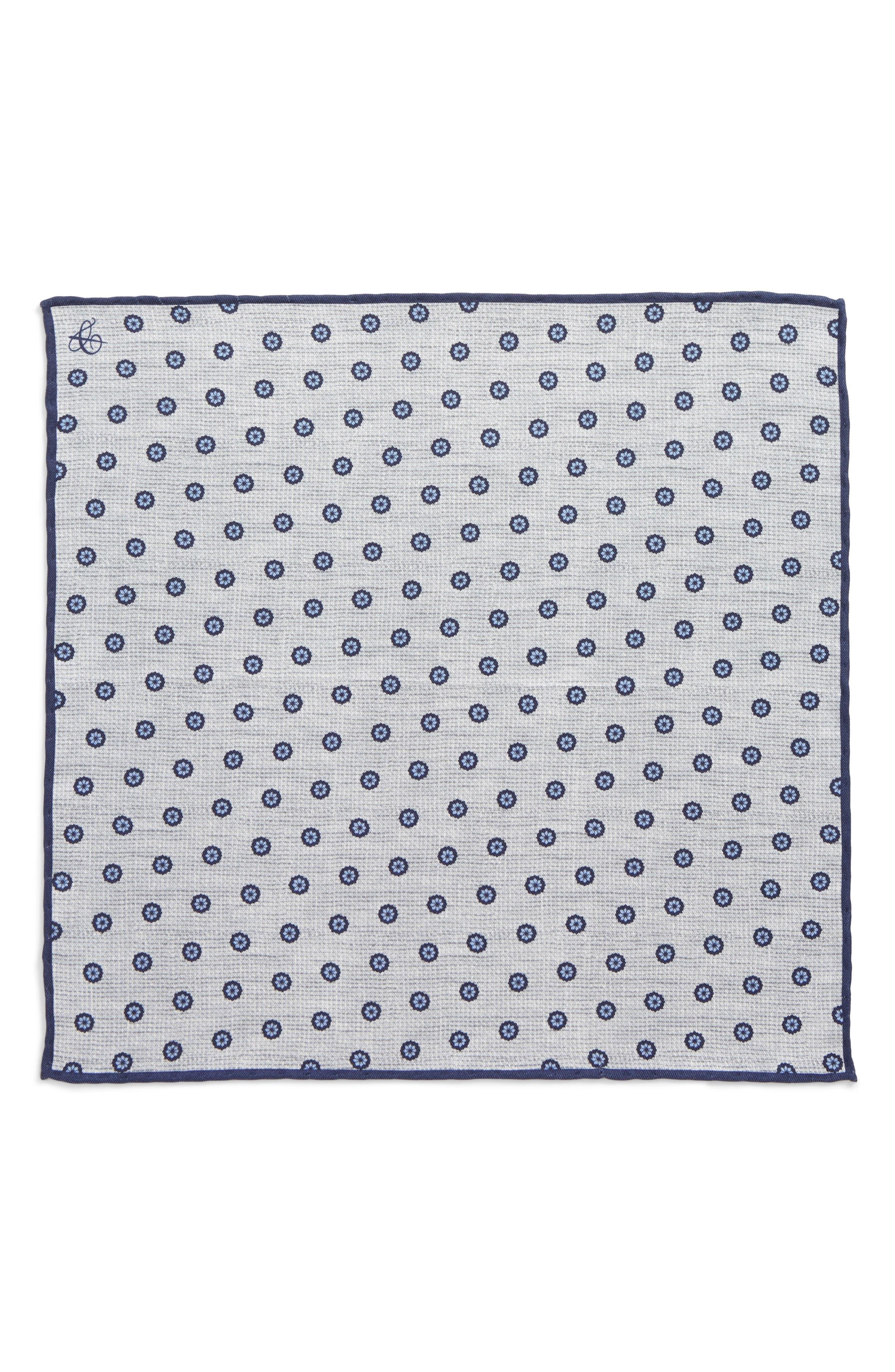 Floral Silk Pocket Square,                             Alternate thumbnail 2, color,                             020