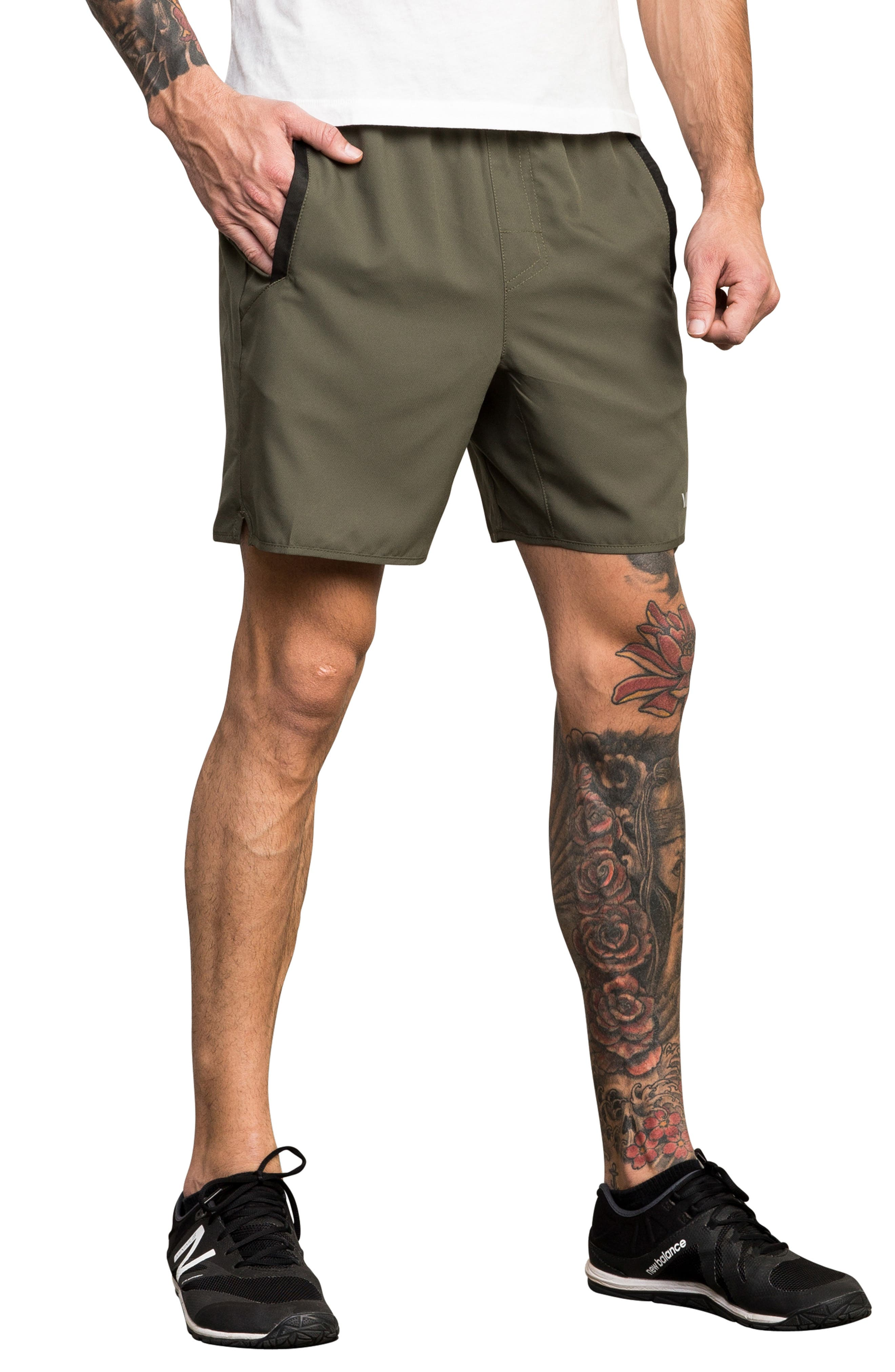 Yogger III Athletic Shorts,                             Alternate thumbnail 3, color,                             OLIVE