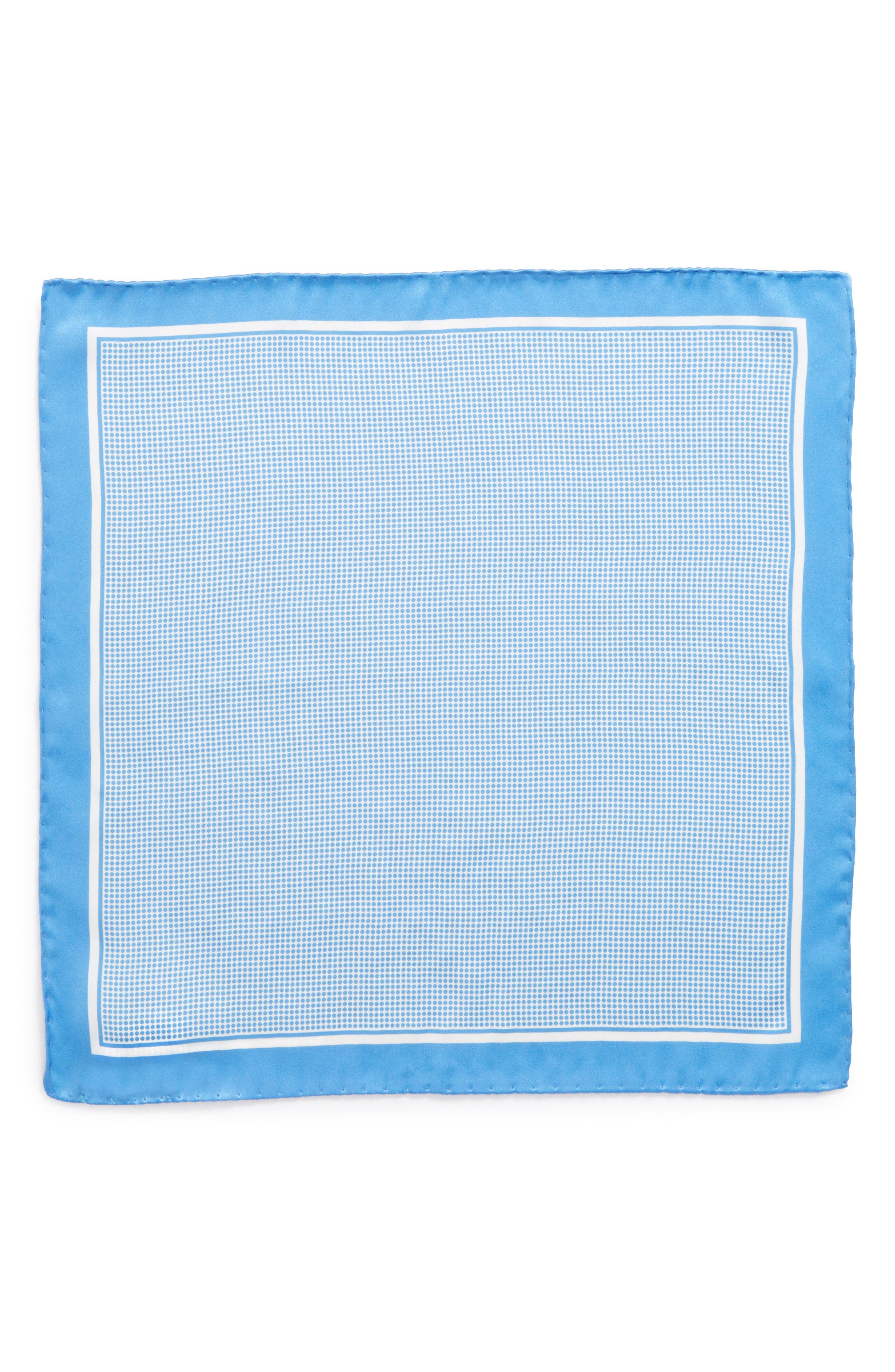 Dot Silk Pocket Square,                             Alternate thumbnail 2, color,                             458