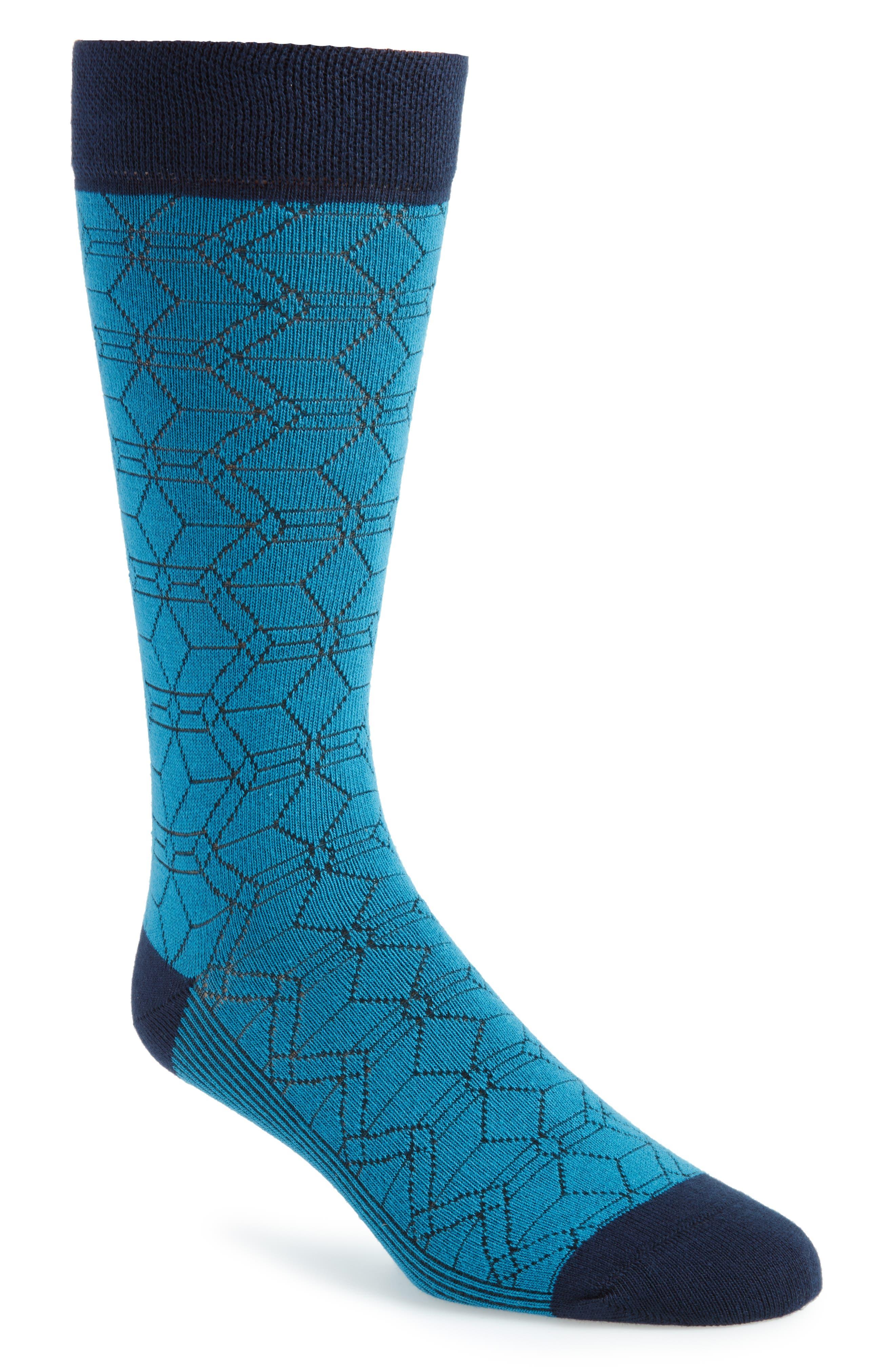 Geo Socks,                         Main,                         color, 421