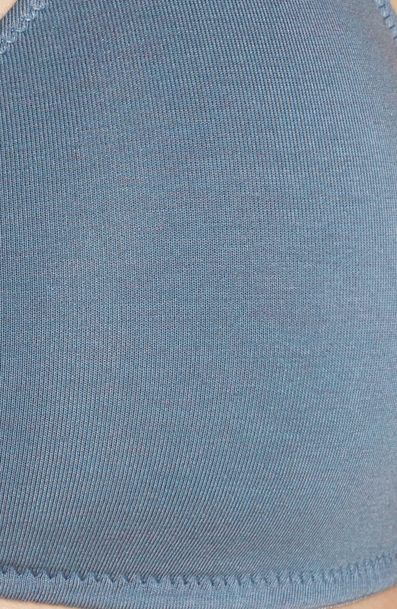 Knit Bralette,                             Alternate thumbnail 6, color,                             DEEP RIVER