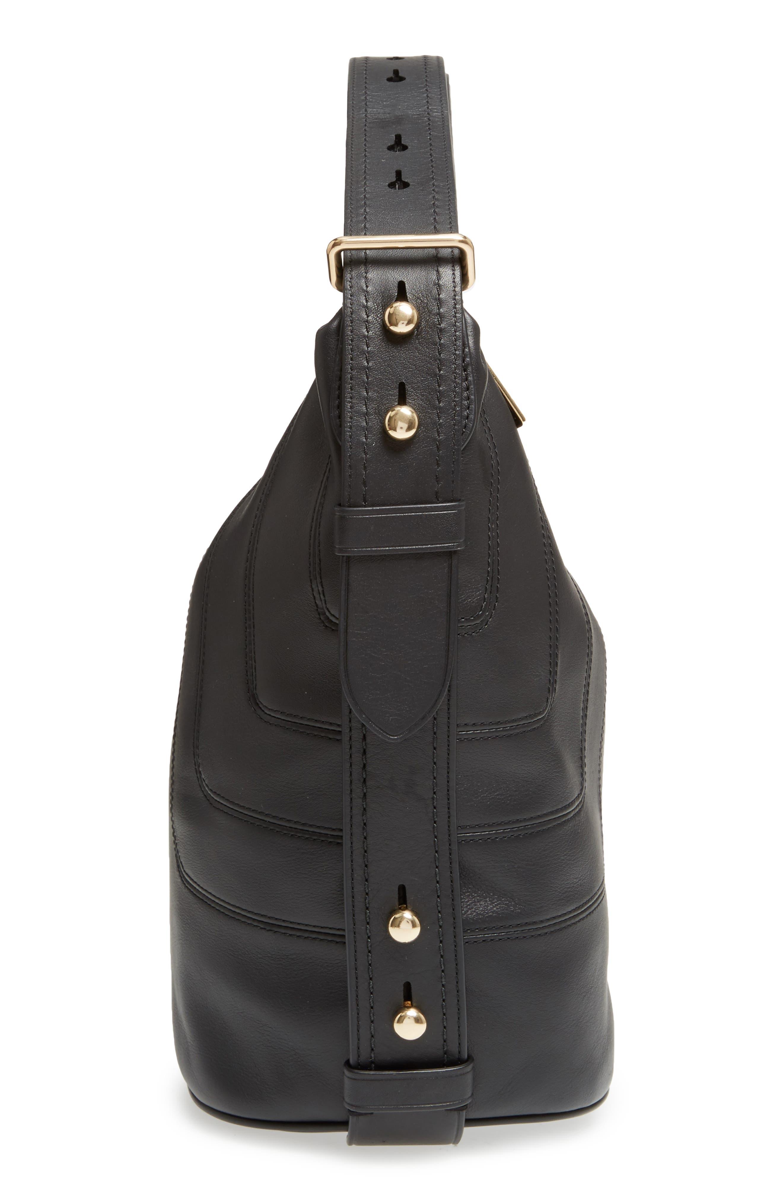 The Sling Mod Leather Hobo/Crossbody/Sling Bag,                             Alternate thumbnail 5, color,                             001