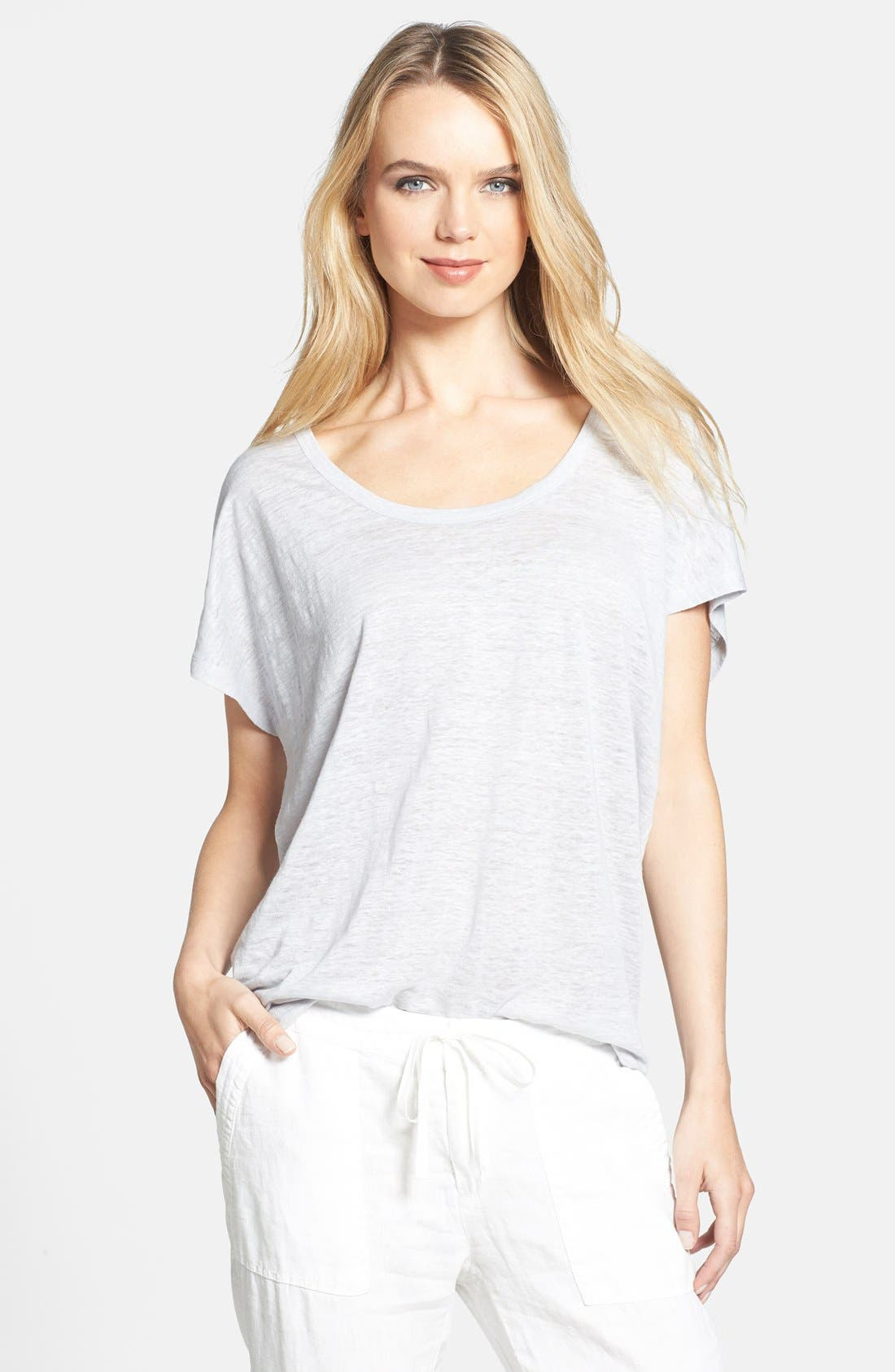 'Maddie' Linen Tee, Main, color, 053
