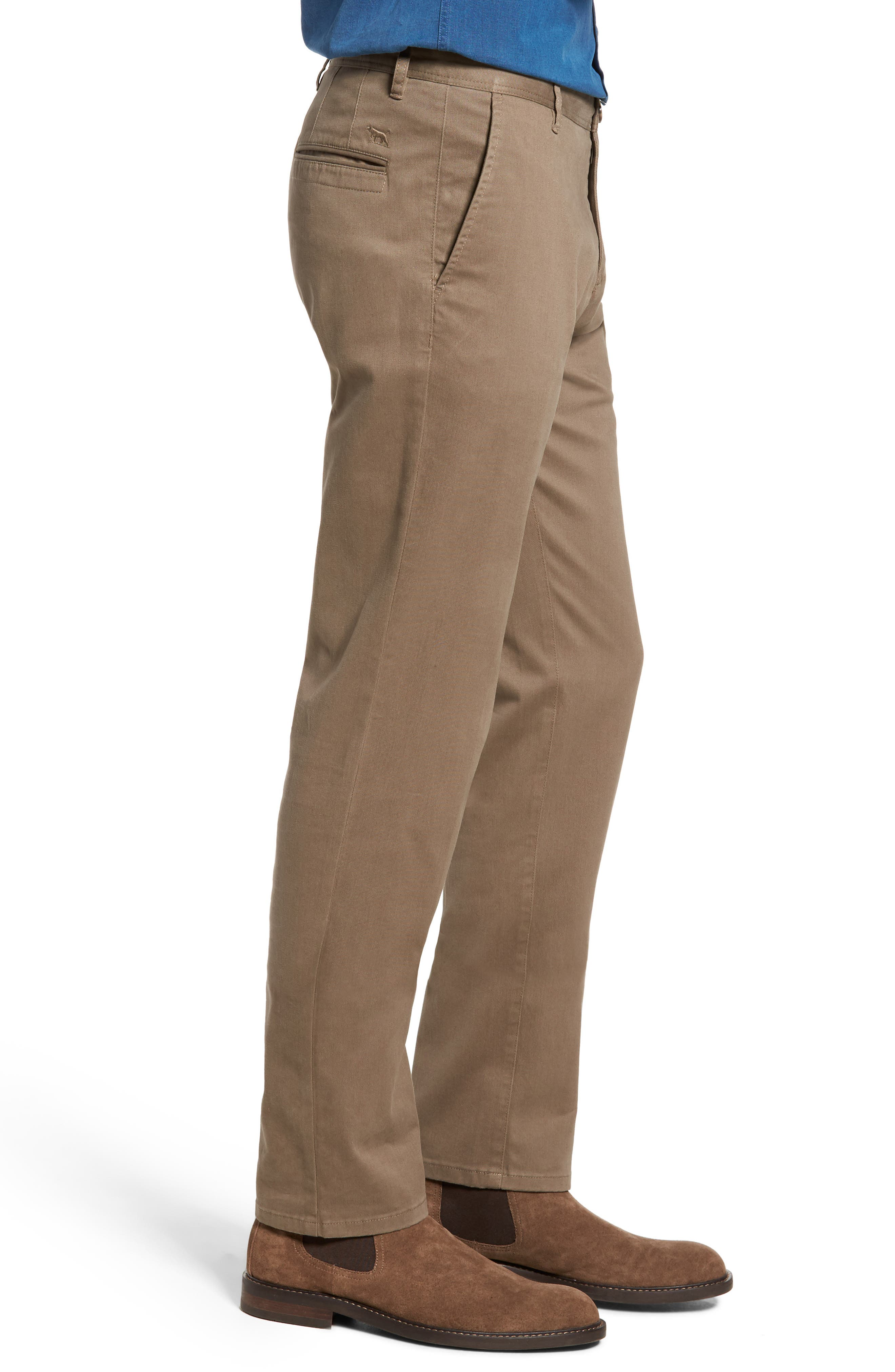 Stanely Brook Custom Fit Chinos,                             Alternate thumbnail 3, color,                             TAUPE