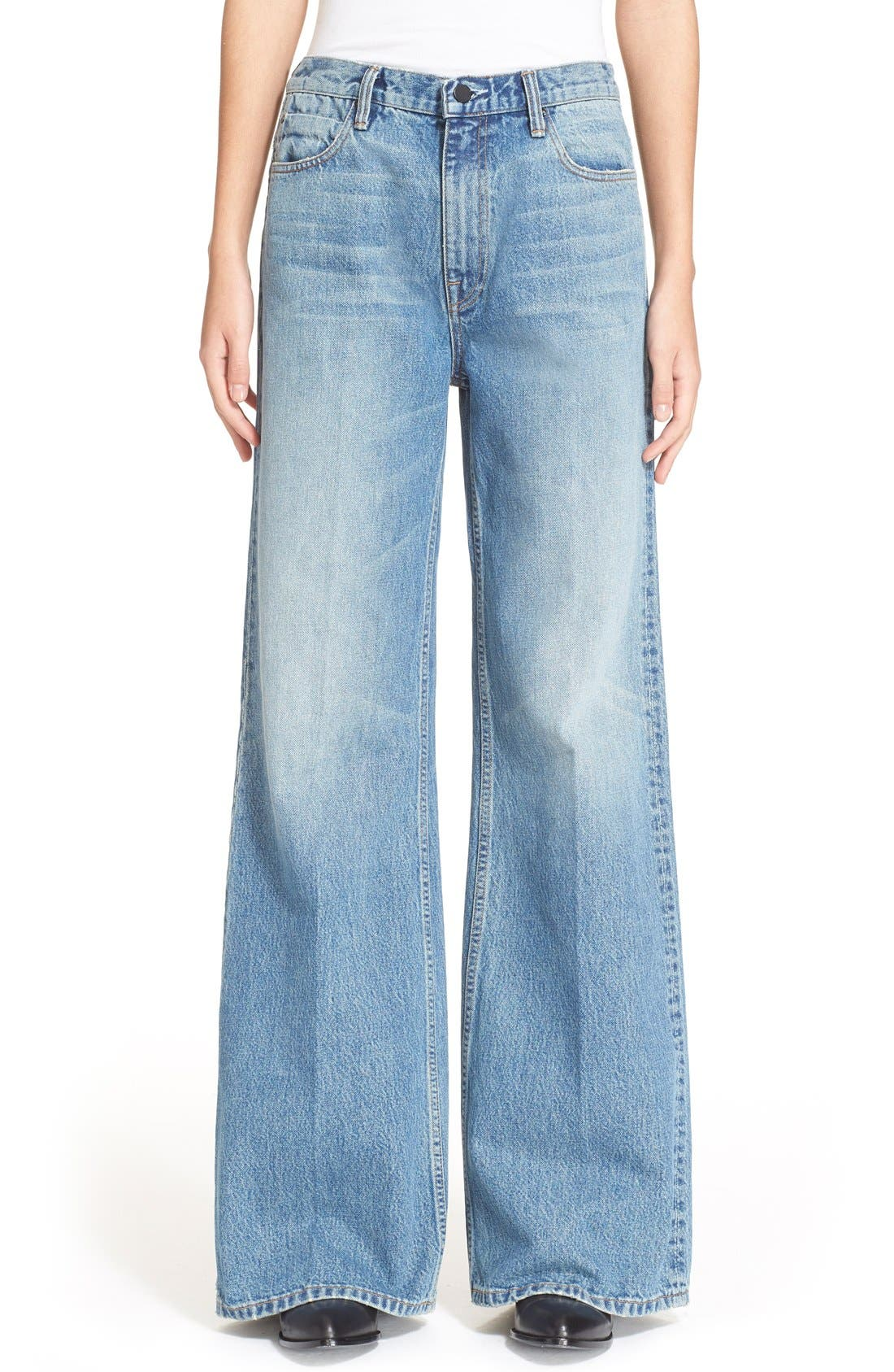 Denim x Alexander Wang Rave Wide Leg Jeans,                         Main,                         color, 453