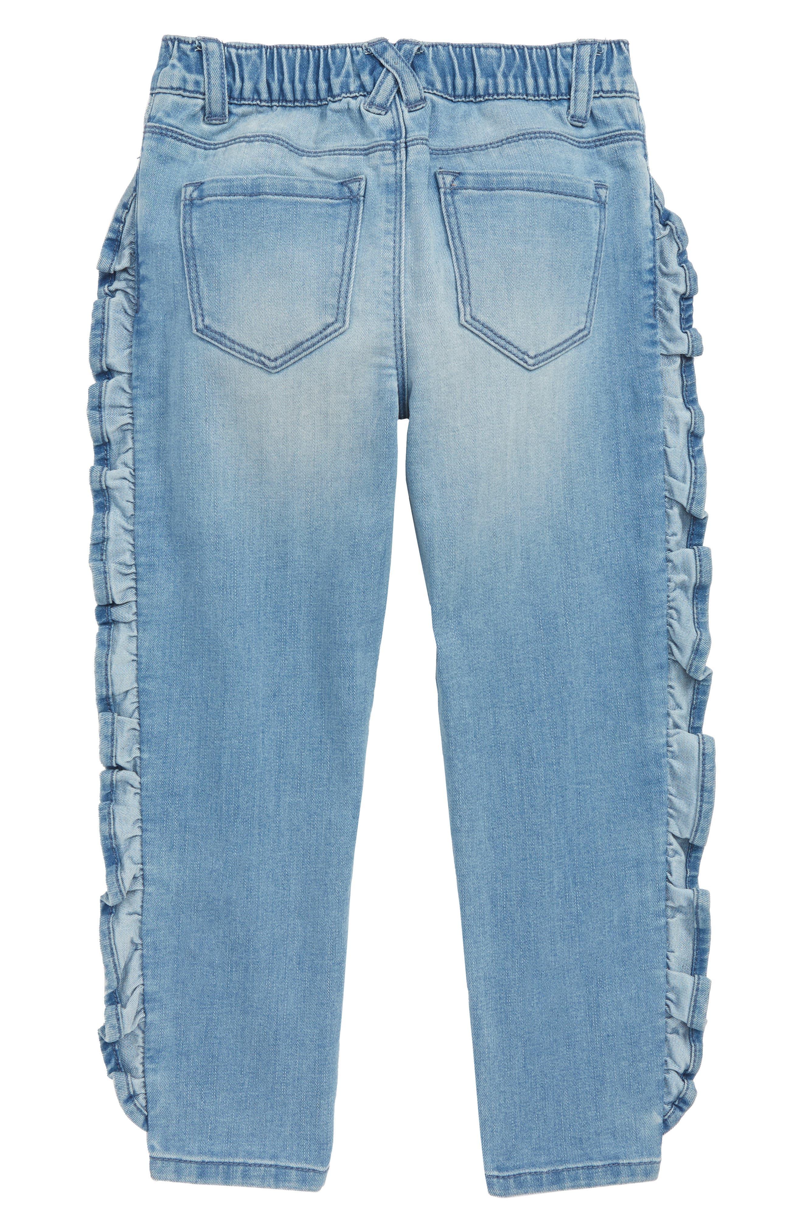 Ruffle Jeans,                             Alternate thumbnail 2, color,                             RUFFLE SKY WASH
