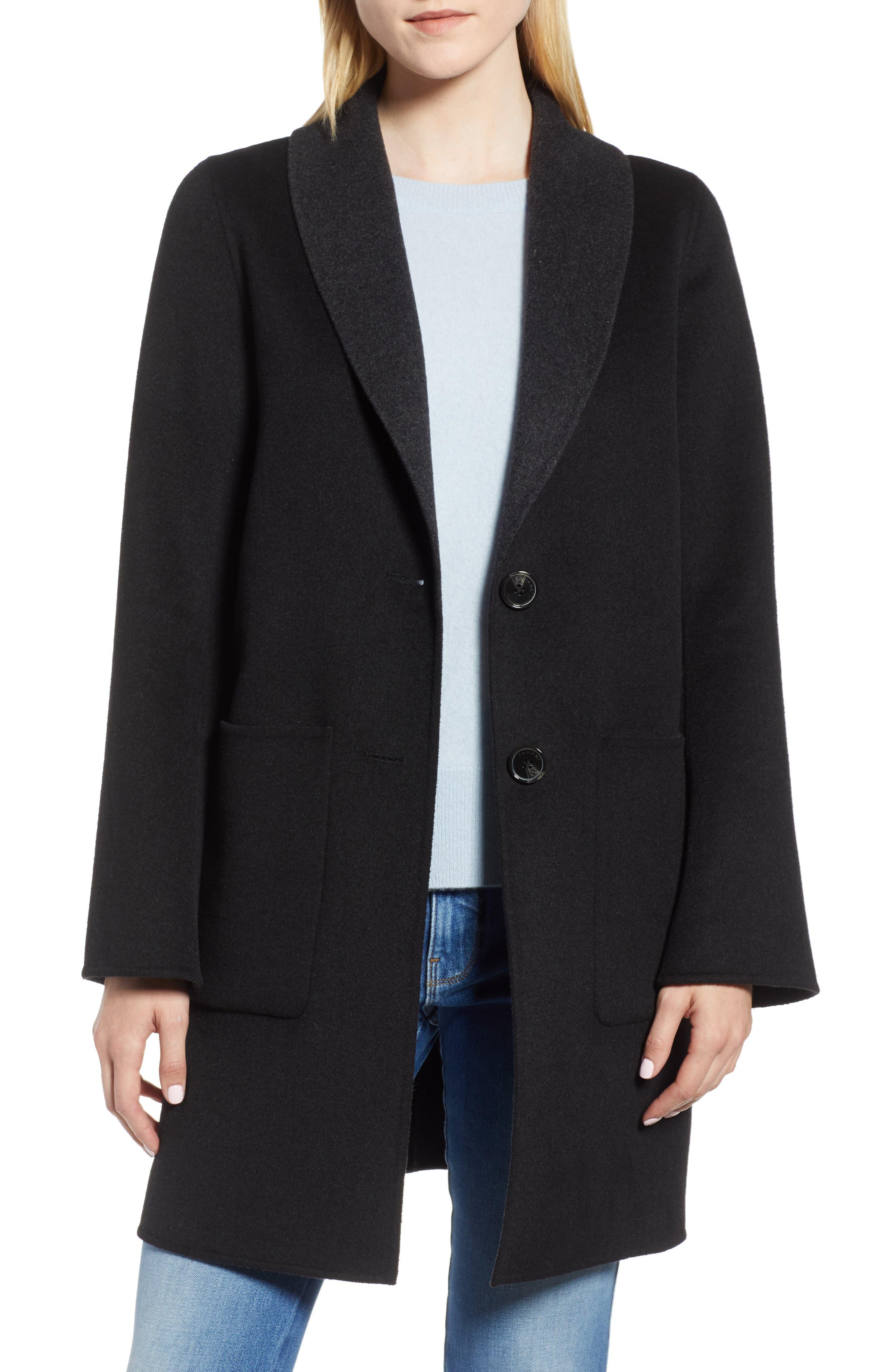 Jenn Double Face Wool Blend Reversible Coat,                         Main,                         color, 016