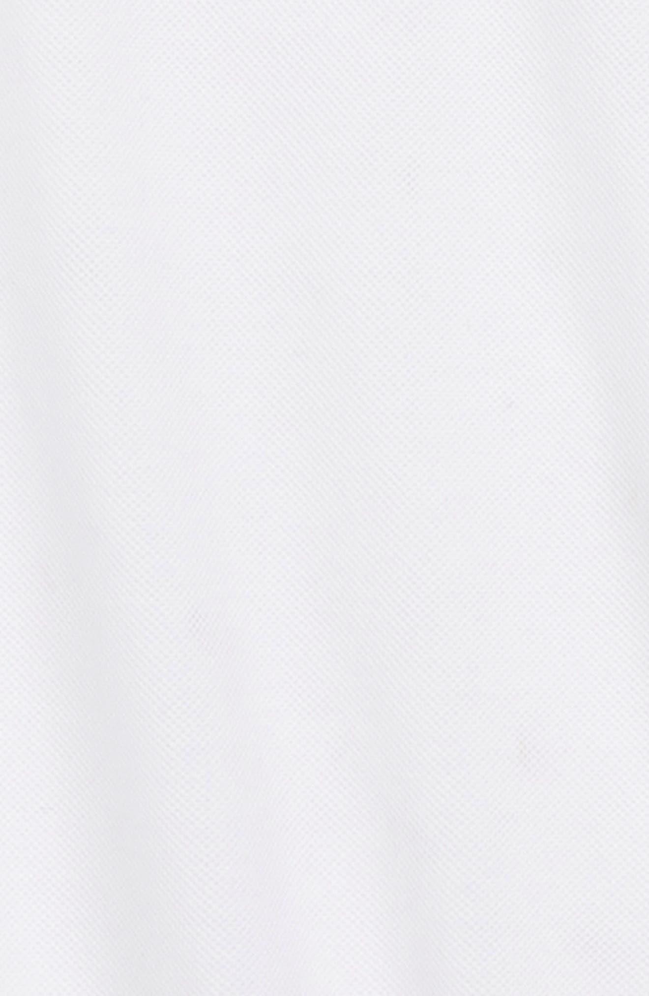 Cotton Piqué Polo,                             Alternate thumbnail 2, color,                             SOLID WHITE