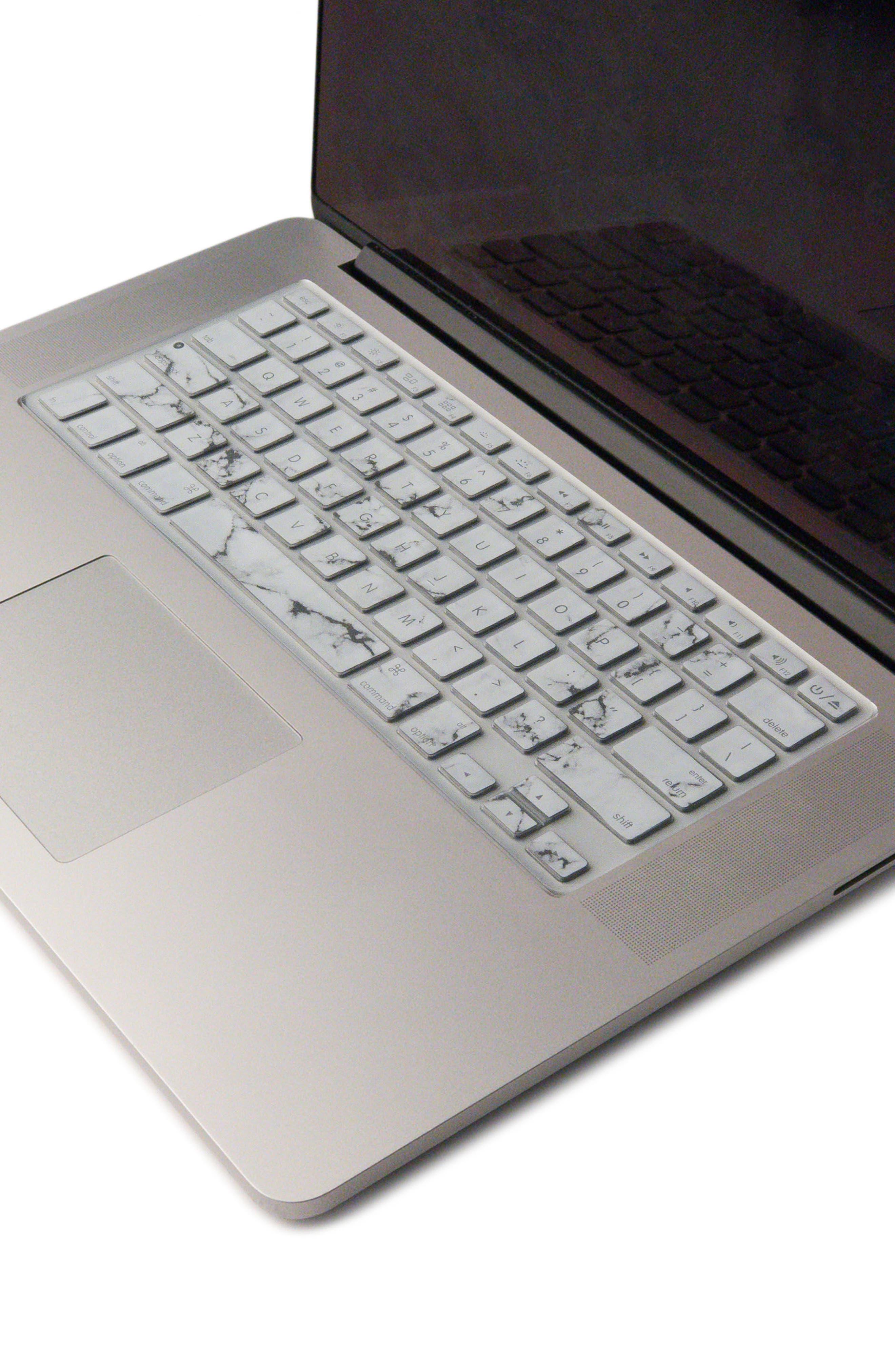 White Marble MacBook Keyboard Skin,                             Alternate thumbnail 2, color,                             WHITE