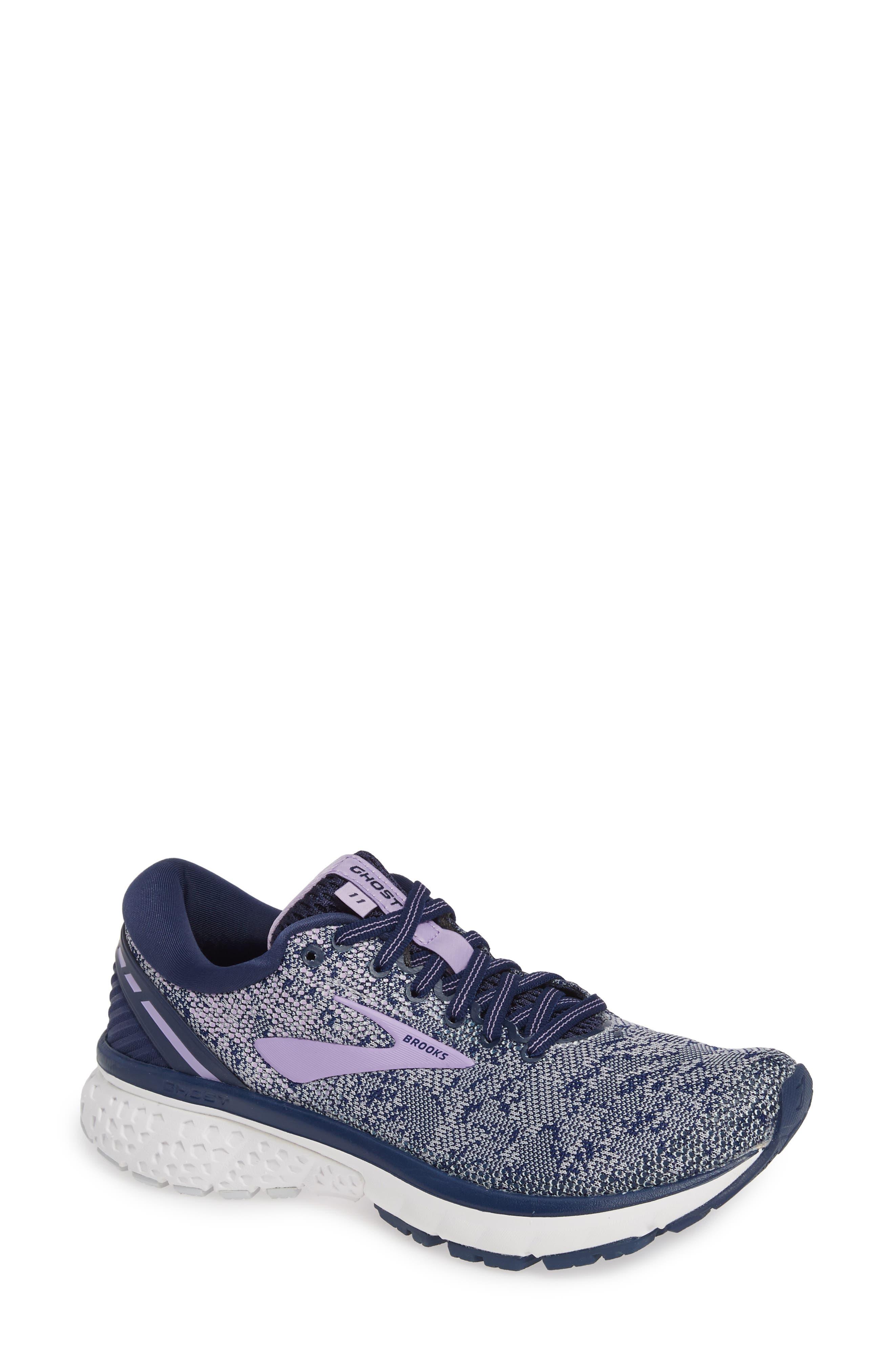 Ghost 11 Running Shoe in Navy/ Grey/ Purple Rose
