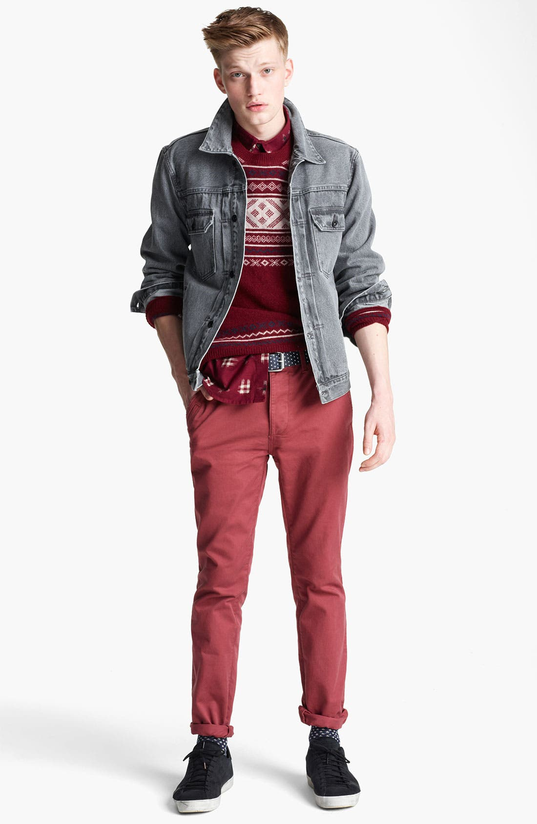 'Dyder' Denim Jacket,                             Alternate thumbnail 5, color,