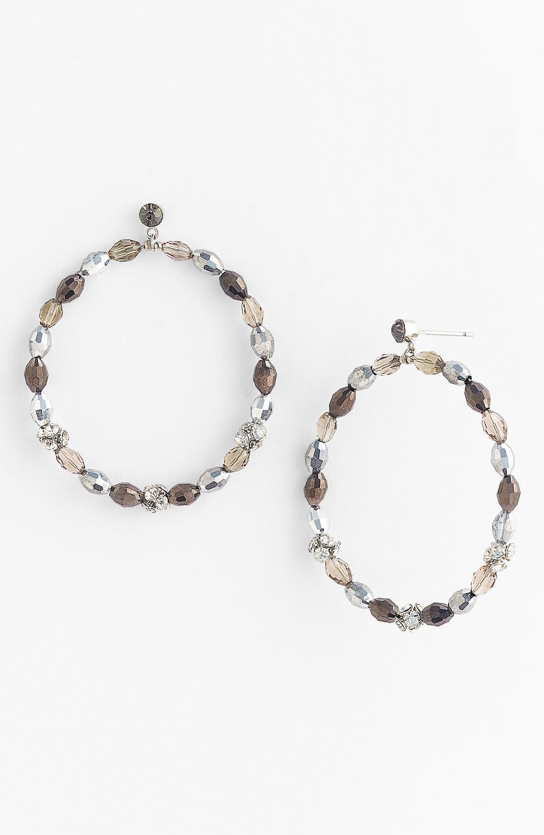 'Mardi Gras' Frontal Hoop Earrings, Main, color, 020