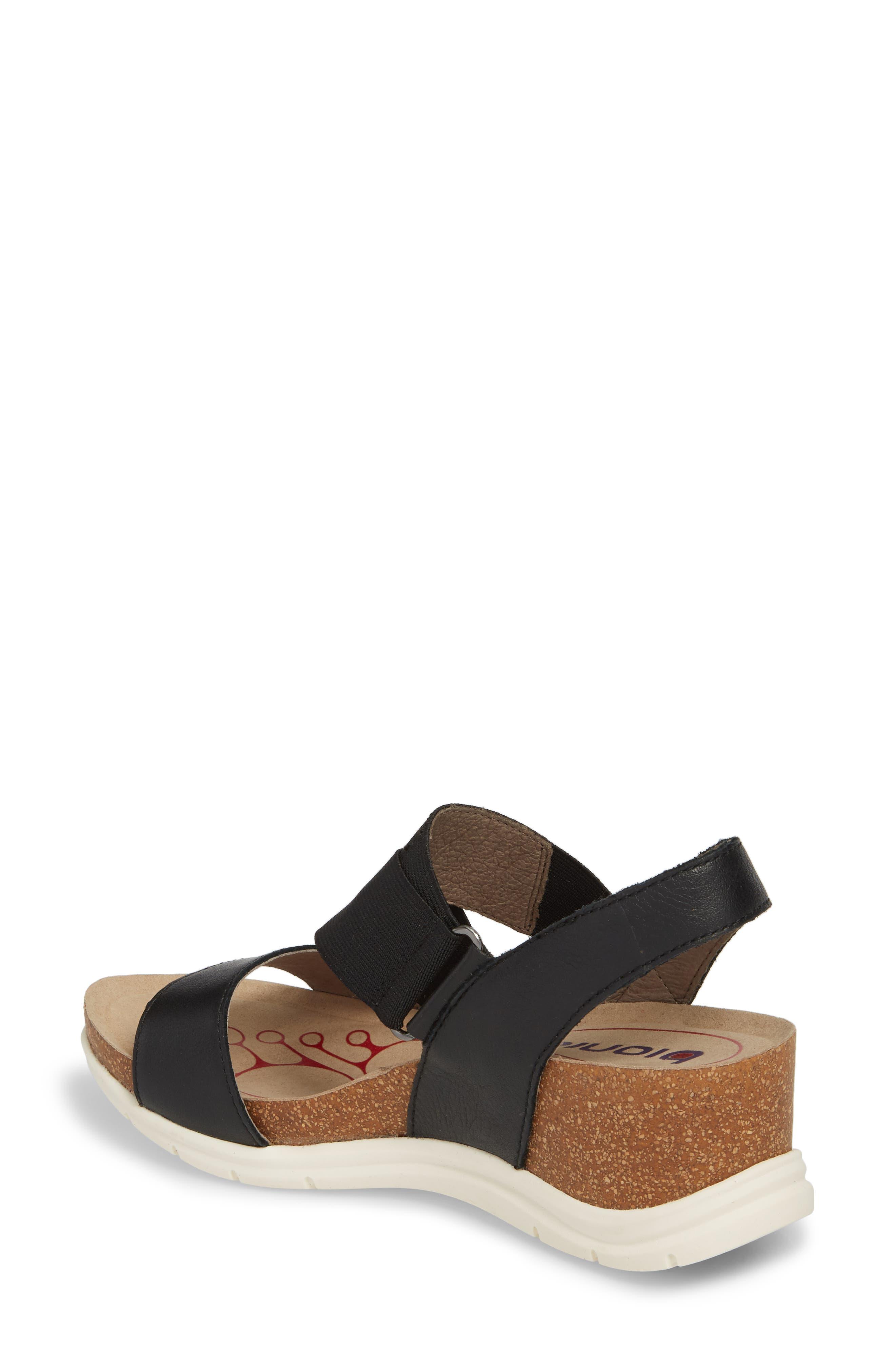 Paisley Wedge Sandal,                             Alternate thumbnail 2, color,                             001