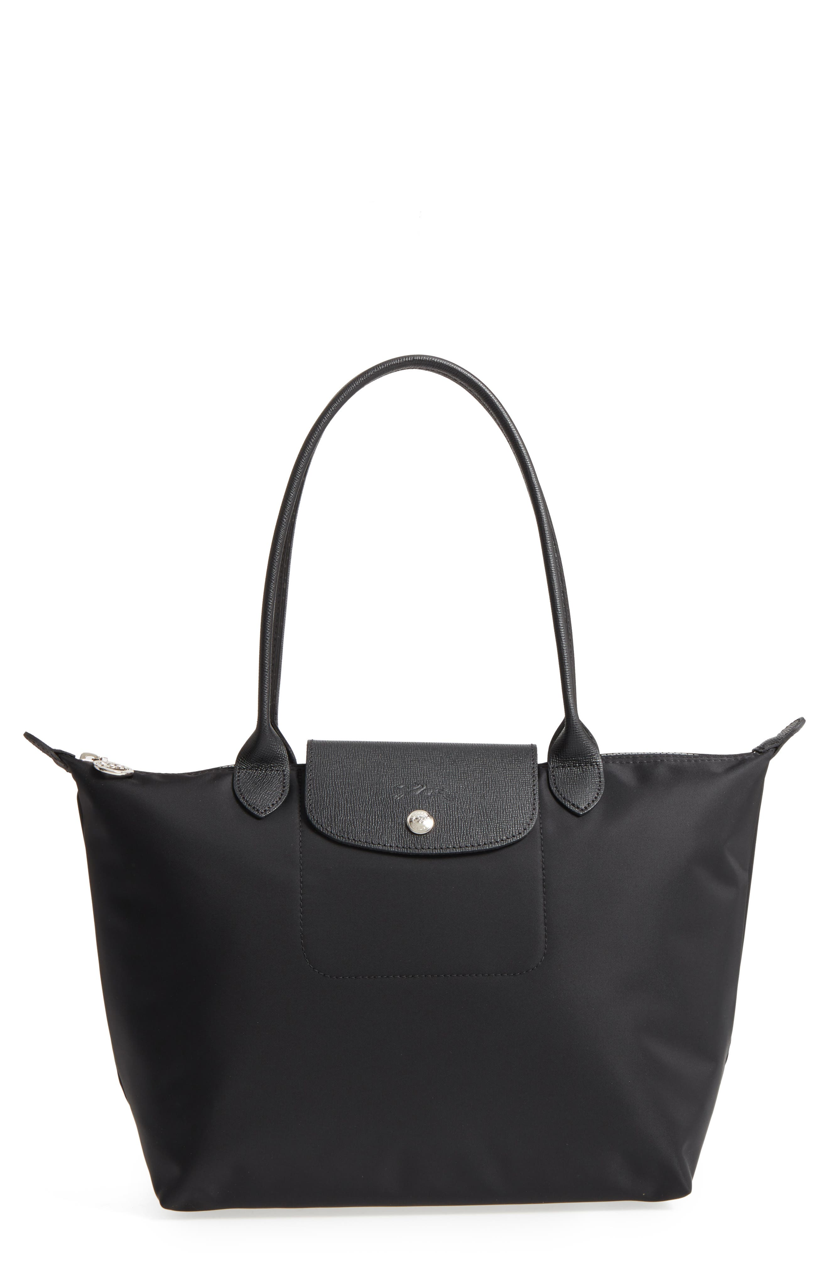 Small Le Pliage Neo Nylon Tote,                             Main thumbnail 1, color,                             BLACK