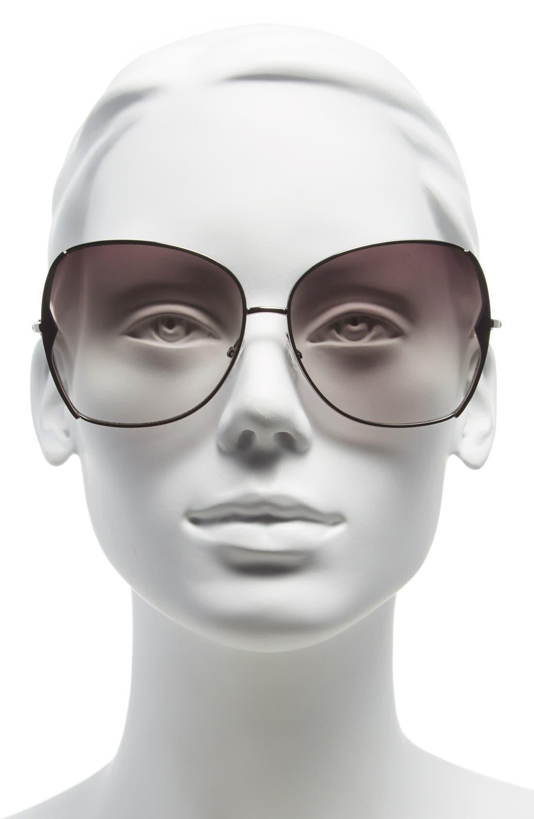 BCBGMAXAZRIA,                             63mm Butterfly Sunglasses,                             Alternate thumbnail 2, color,                             020