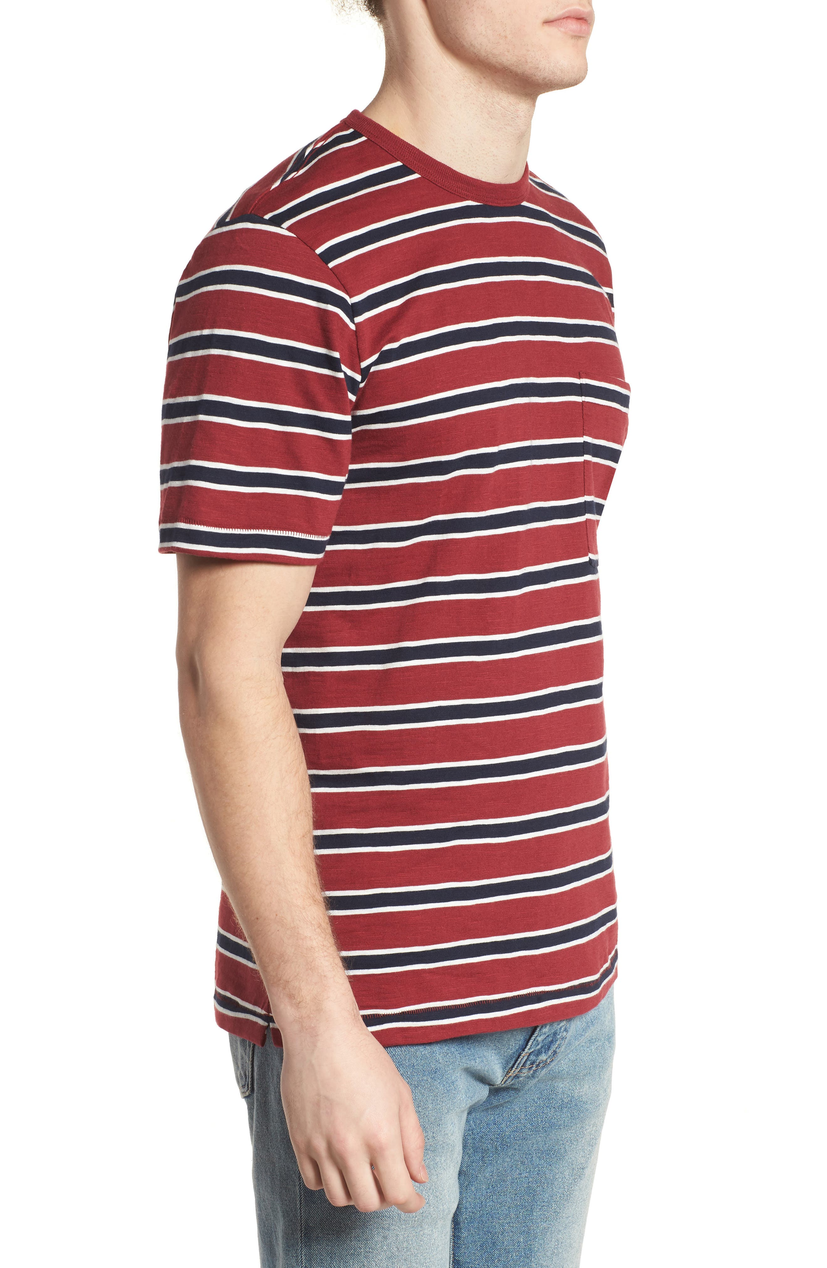 Old School Slim Fit Stripe T-Shirt,                             Alternate thumbnail 3, color,                             603