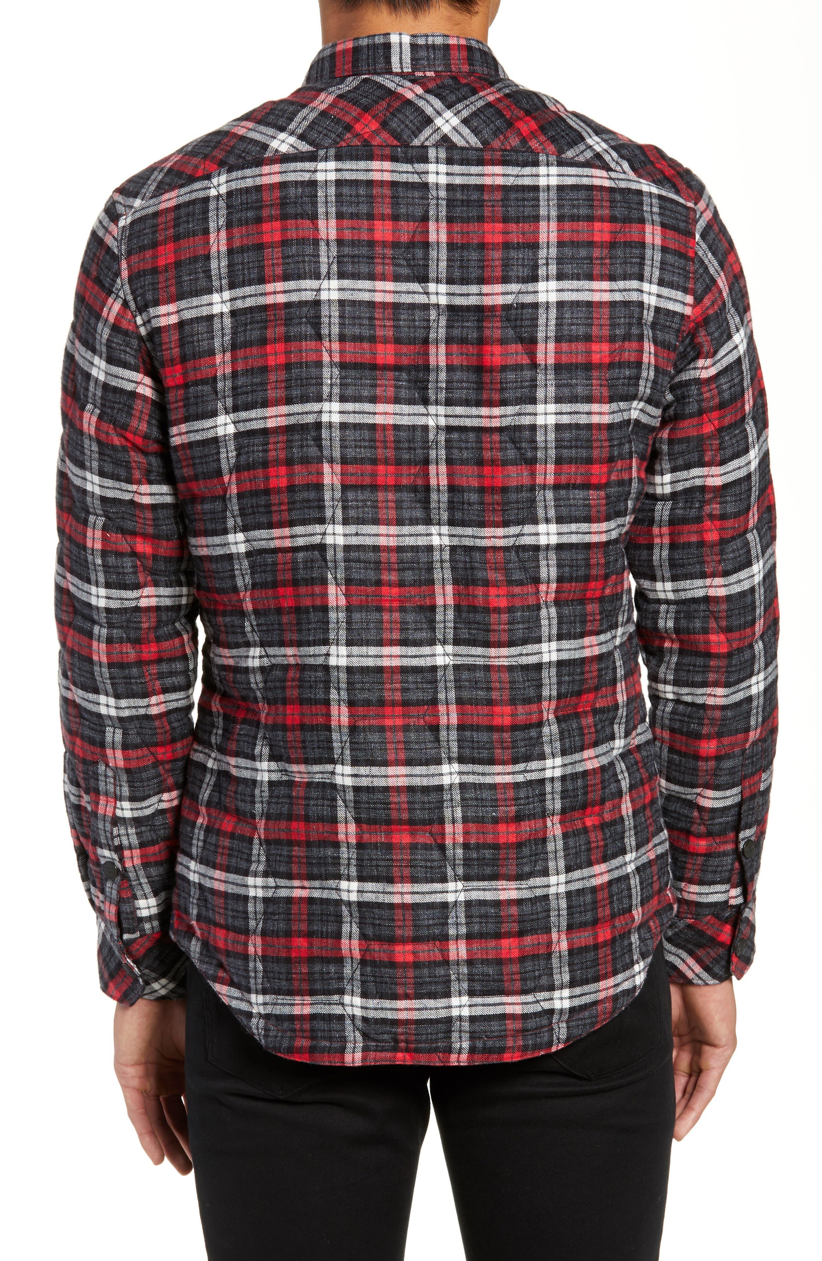 Slim Fit Linen Plaid Shirt Jacket,                             Alternate thumbnail 2, color,                             CHARCOAL